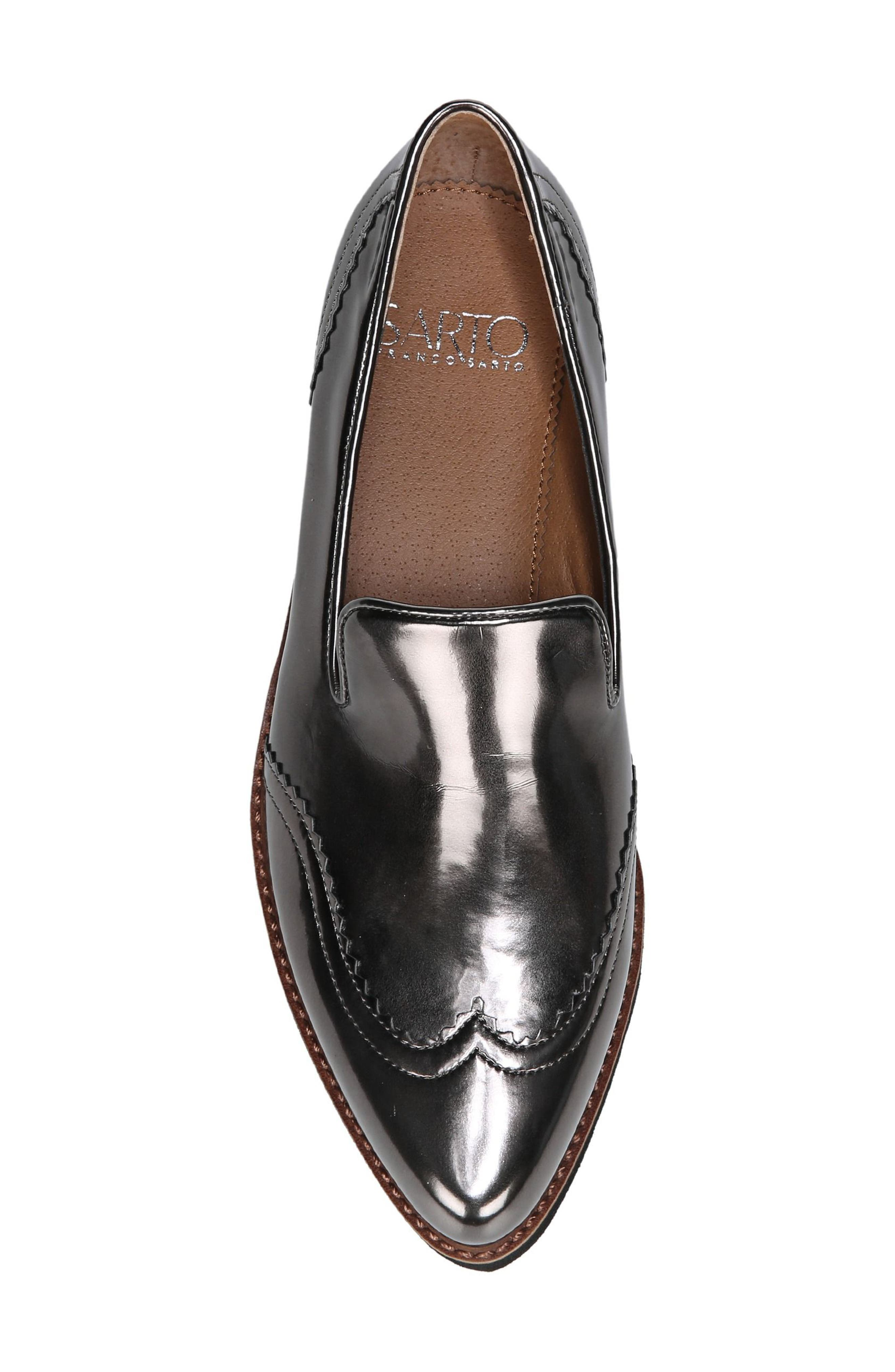 Betsy Loafer,                             Alternate thumbnail 5, color,                             GUNMETAL FAUX PATENT SUEDE