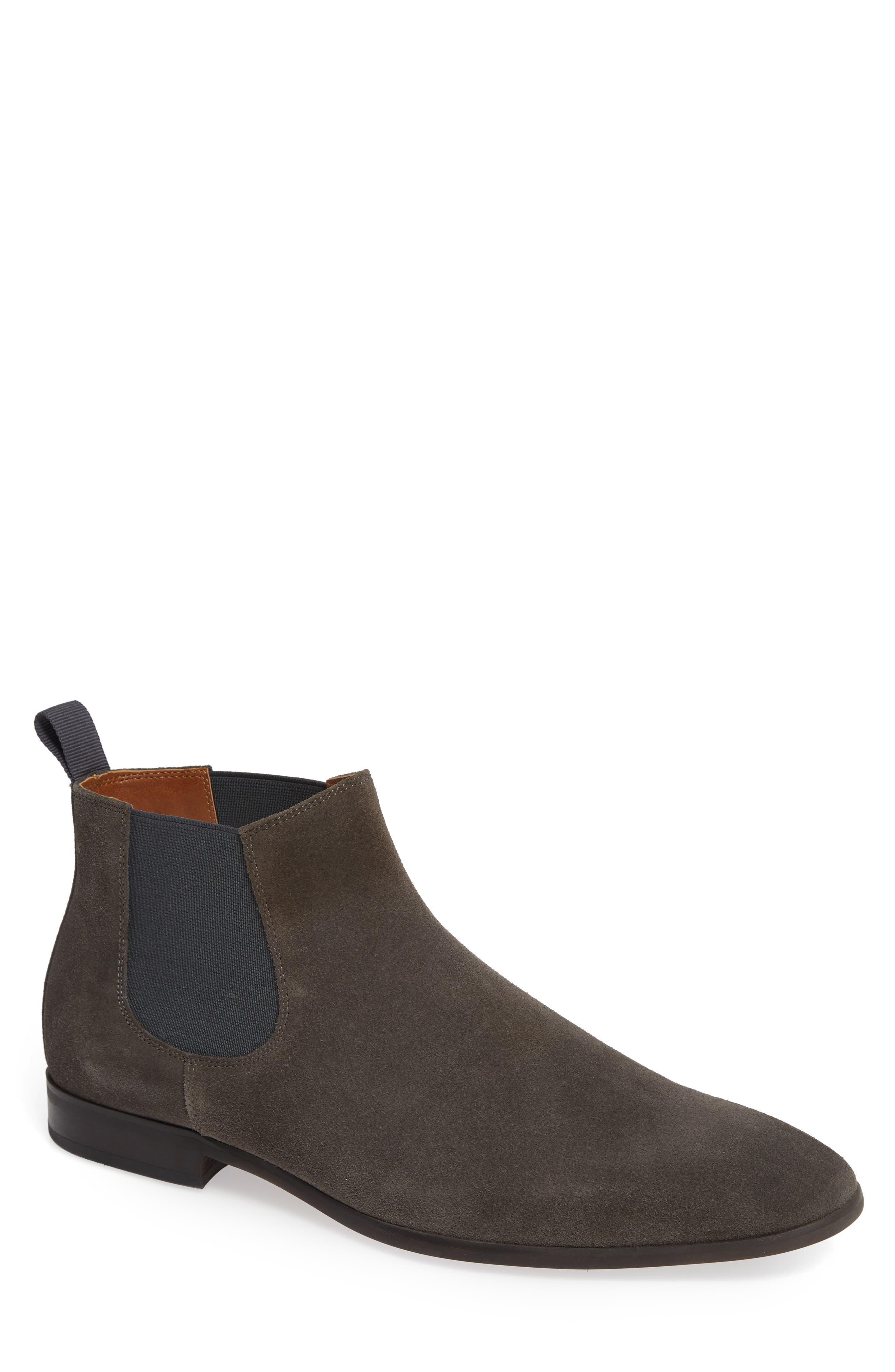 Edward Chelsea Boot,                         Main,                         color, CHARCOAL SUEDE