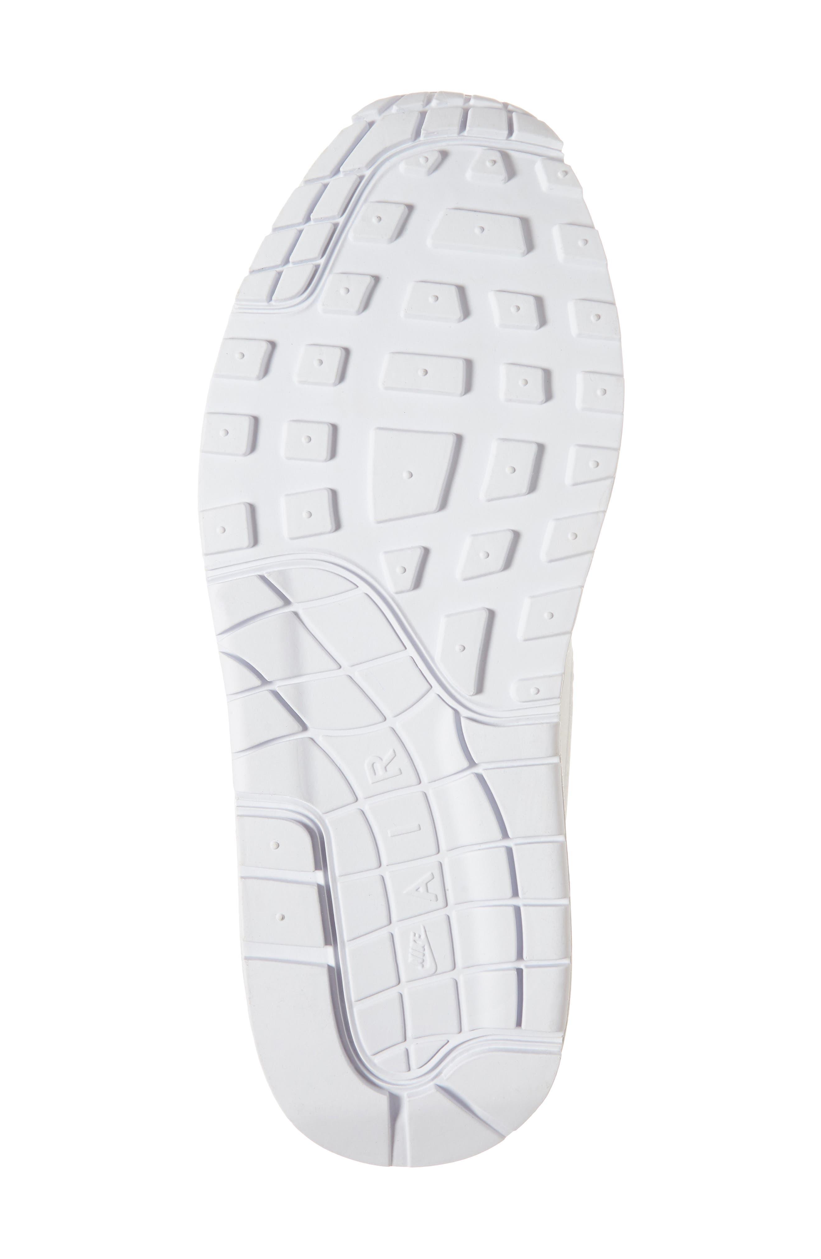 'Air Max 1 ND' Sneaker,                             Alternate thumbnail 6, color,                             WHITE/ WHITE/ PURE PLATINUM