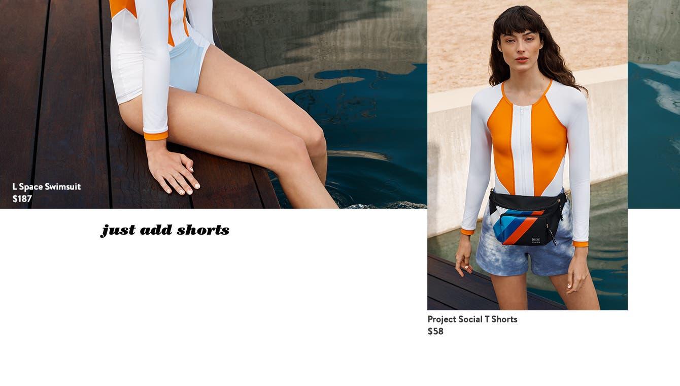 How to wear swimwear as daywear: just add shorts.