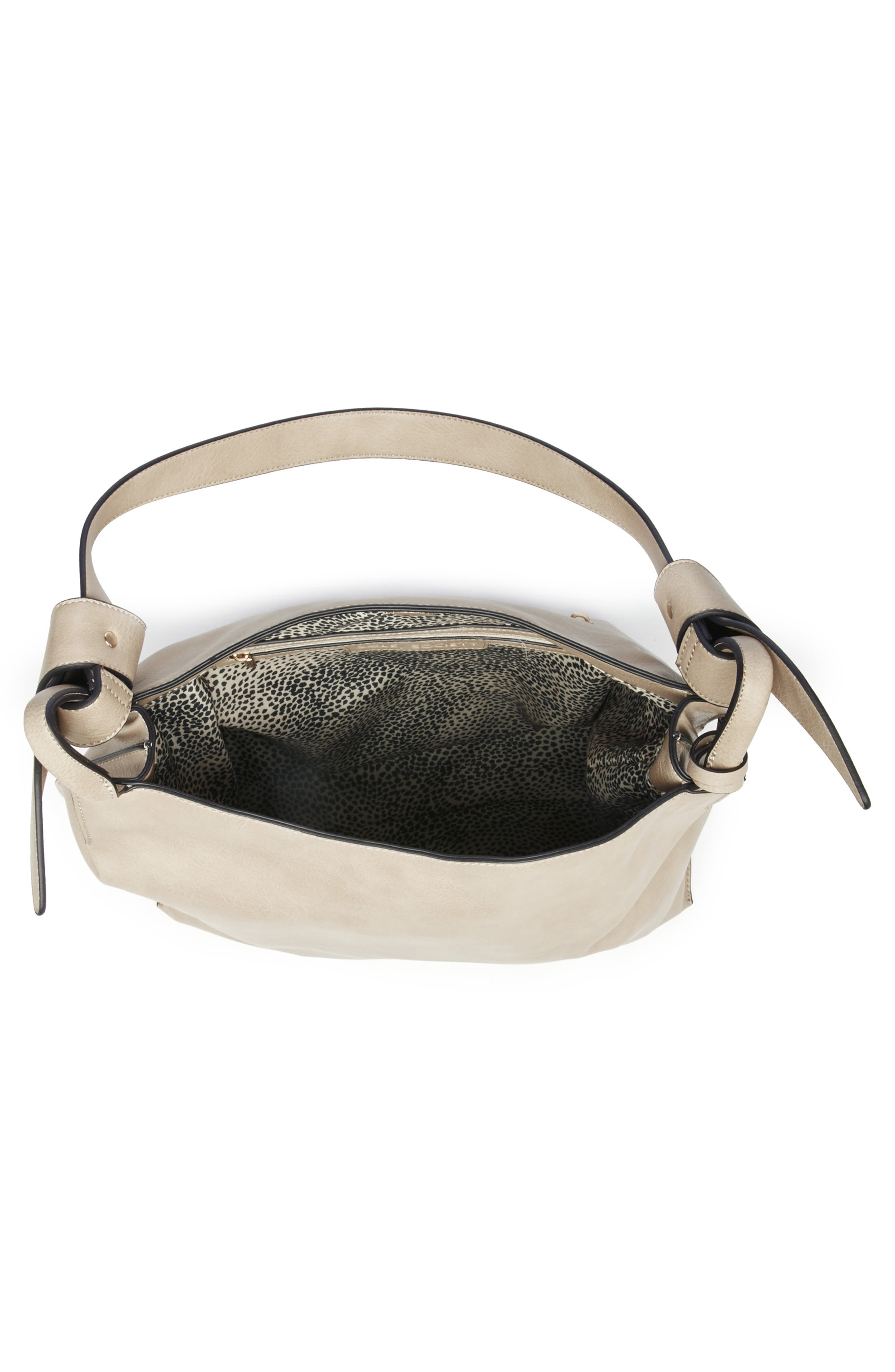 Josah Faux Leather Shoulder Bag,                             Alternate thumbnail 10, color,                             SAFARI