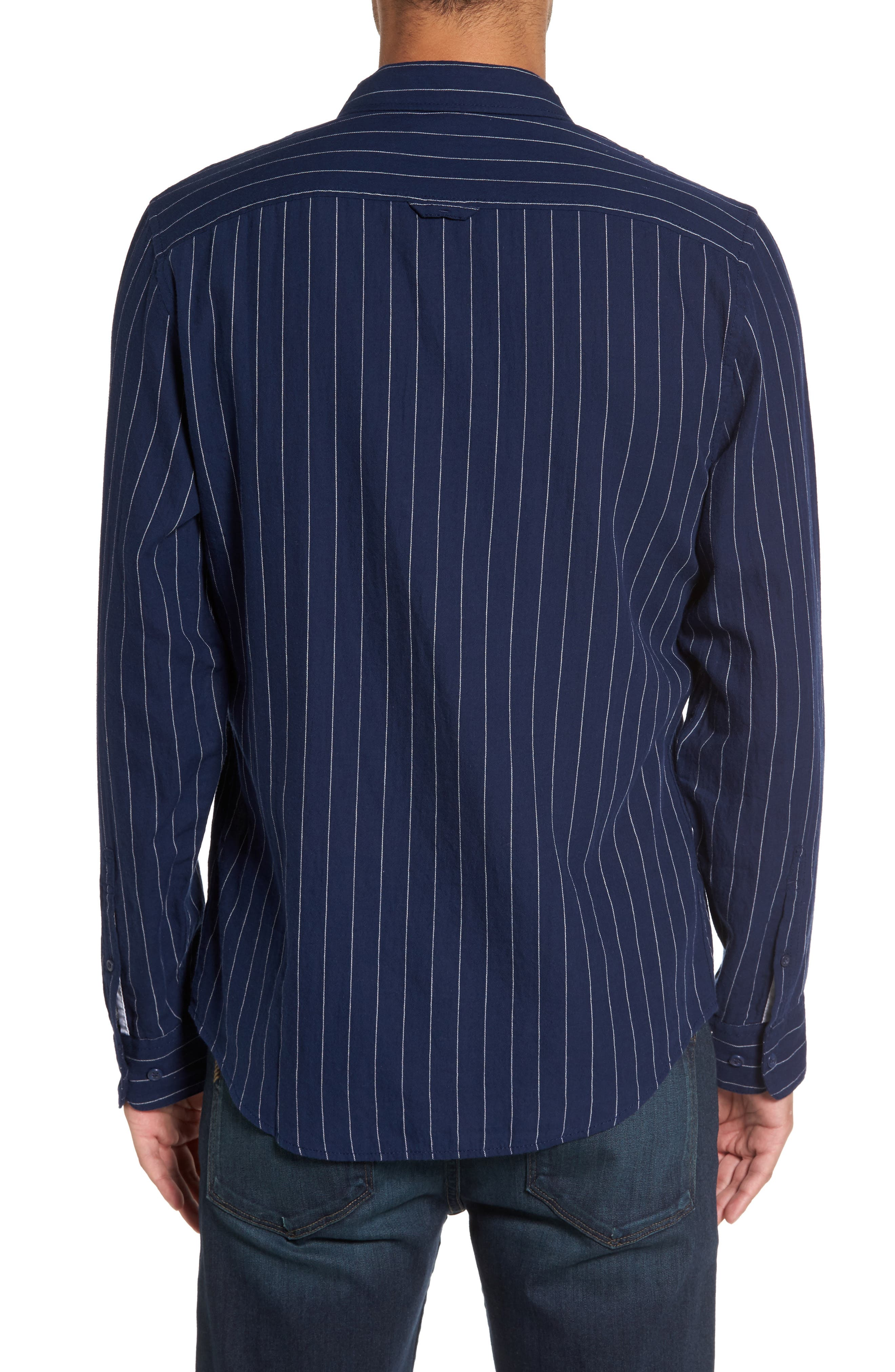 Stripe Twill Shirt,                             Alternate thumbnail 3, color,
