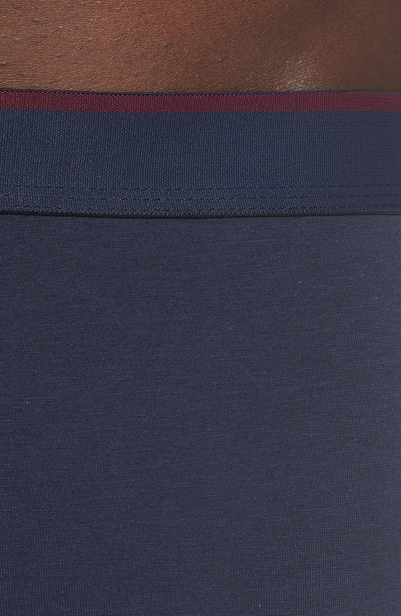 Infinity Cotton Blend Boxer Briefs,                             Alternate thumbnail 4, color,                             NAVY