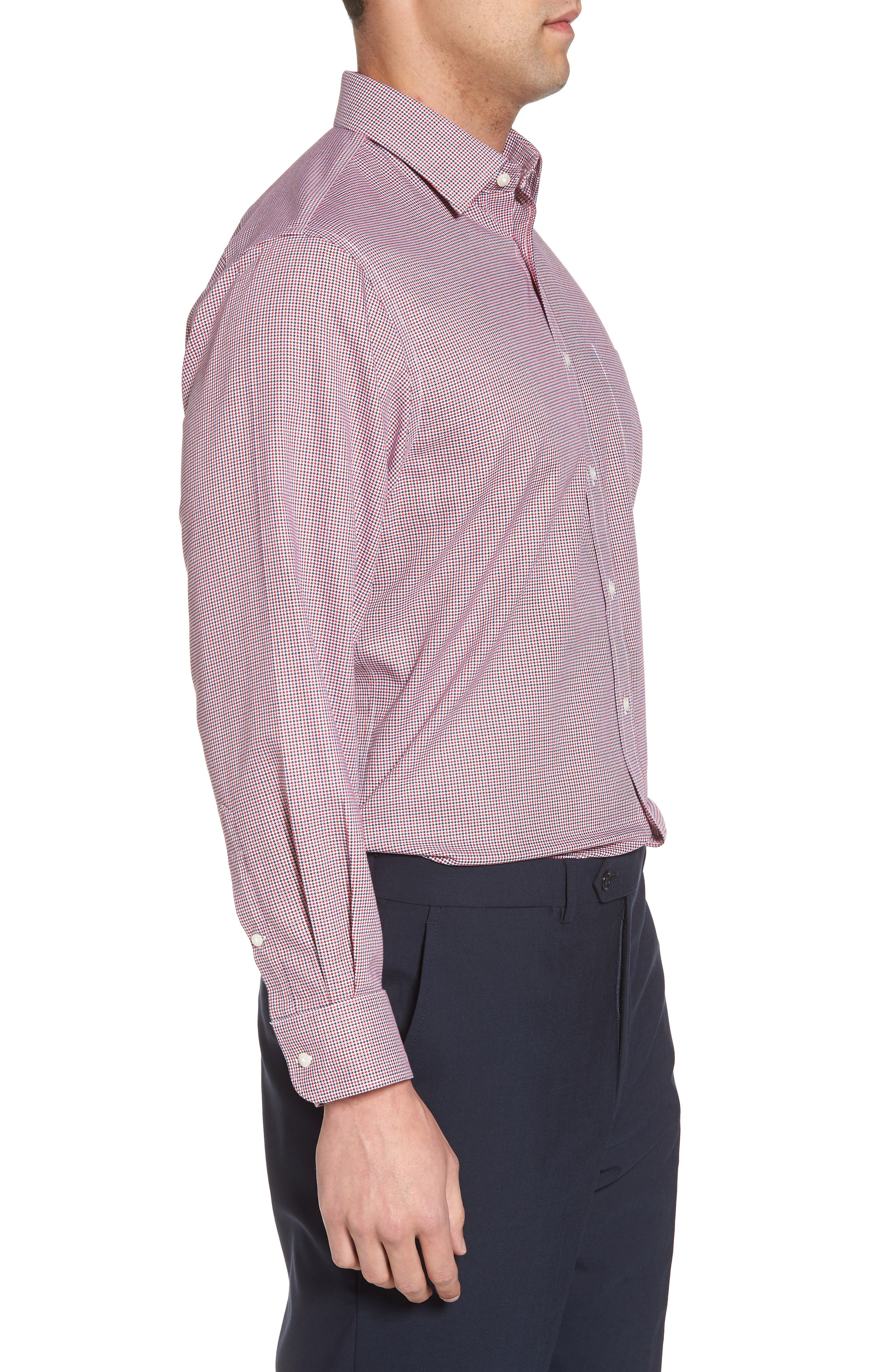 Smartcare<sup>™</sup> Traditional Fit Houndstooth Dress Shirt,                             Alternate thumbnail 8, color,
