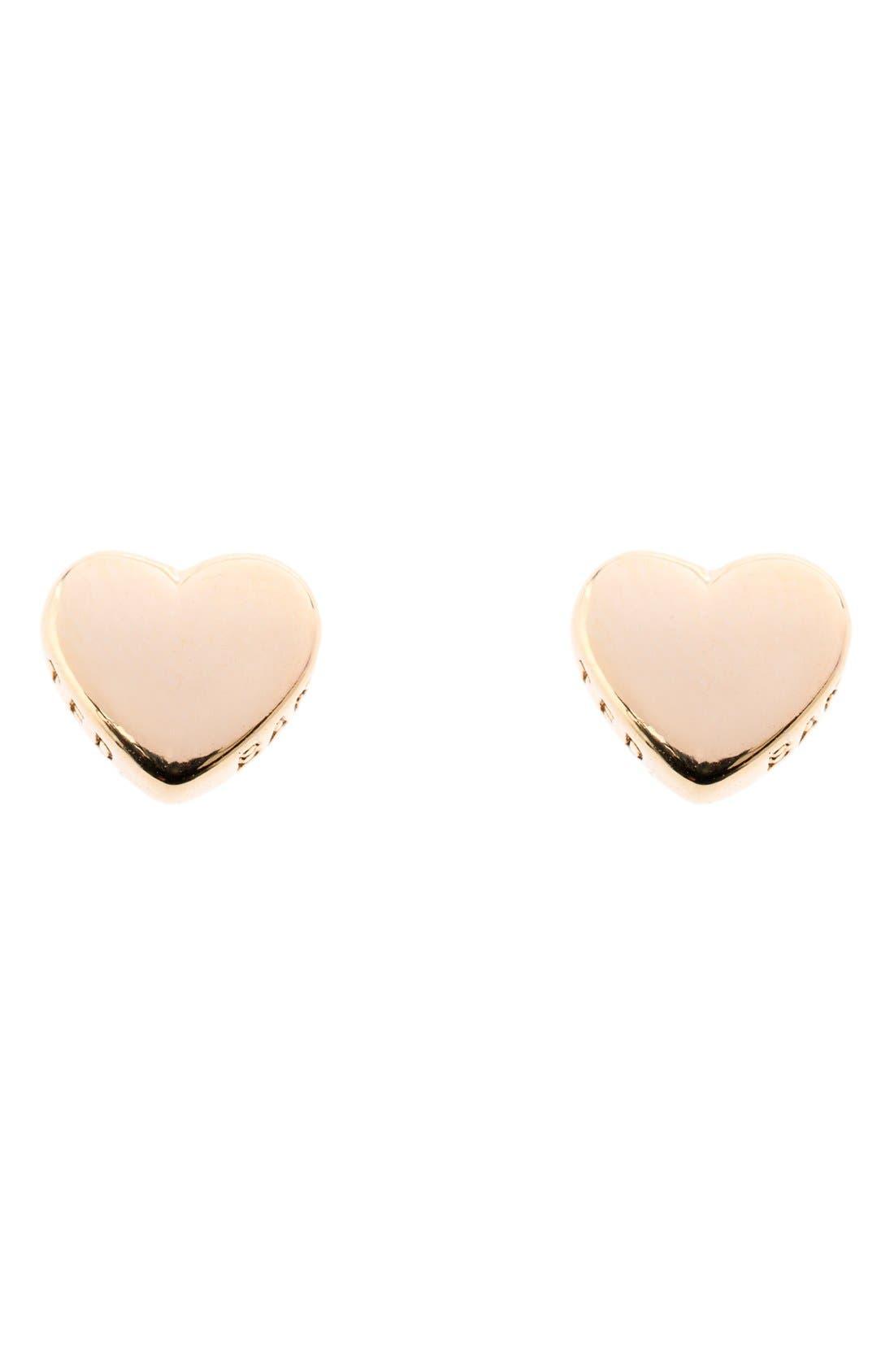 'Tiny Heart' Stud Earrings, Main, color, 040