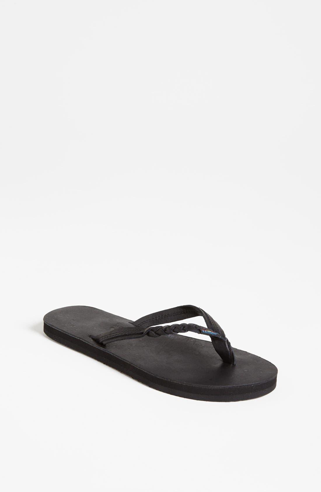 'Flirty Braidy' Sandal,                         Main,                         color, 001