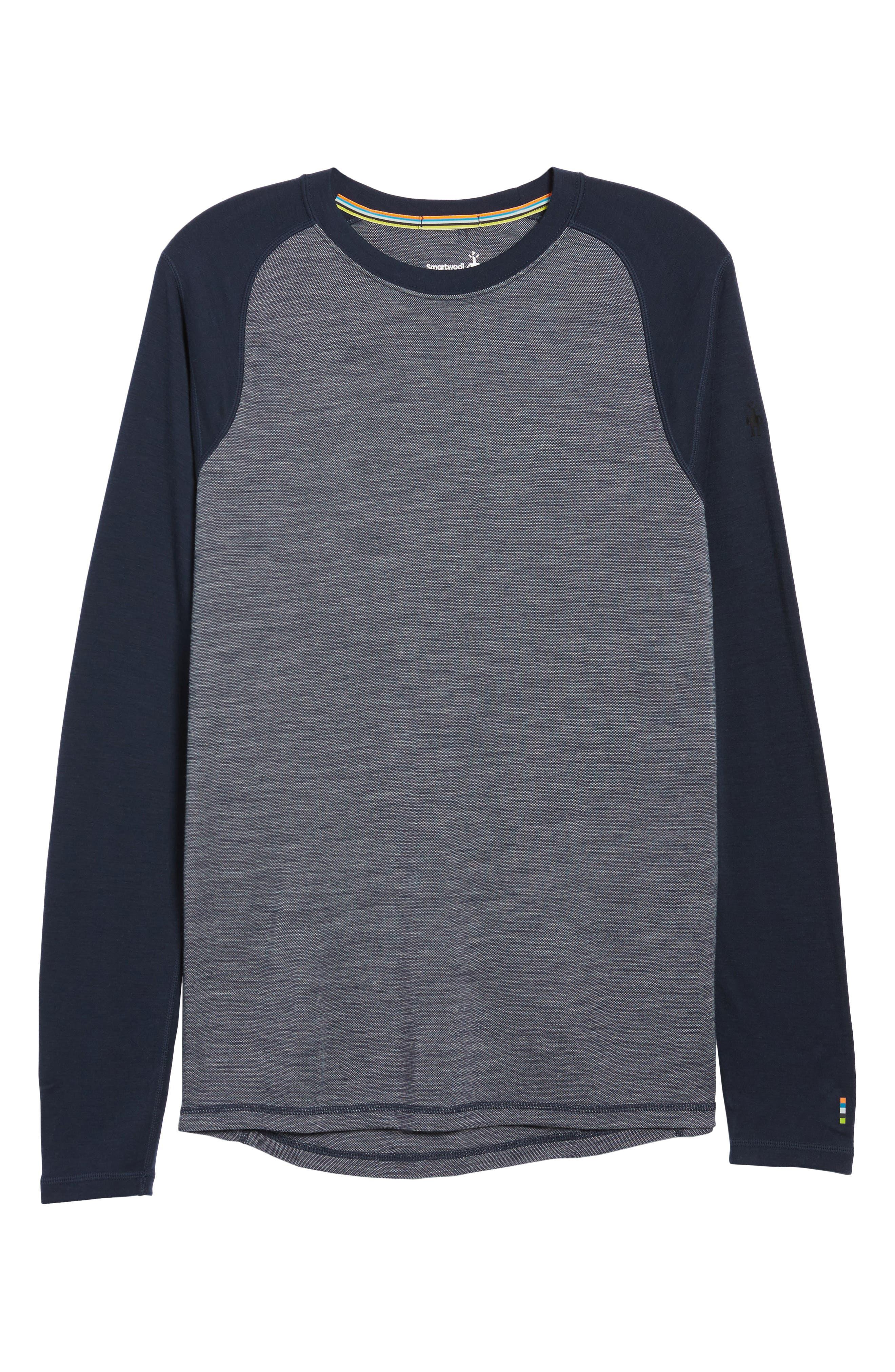 Merino Wool Raglan T-Shirt,                             Alternate thumbnail 6, color,                             410
