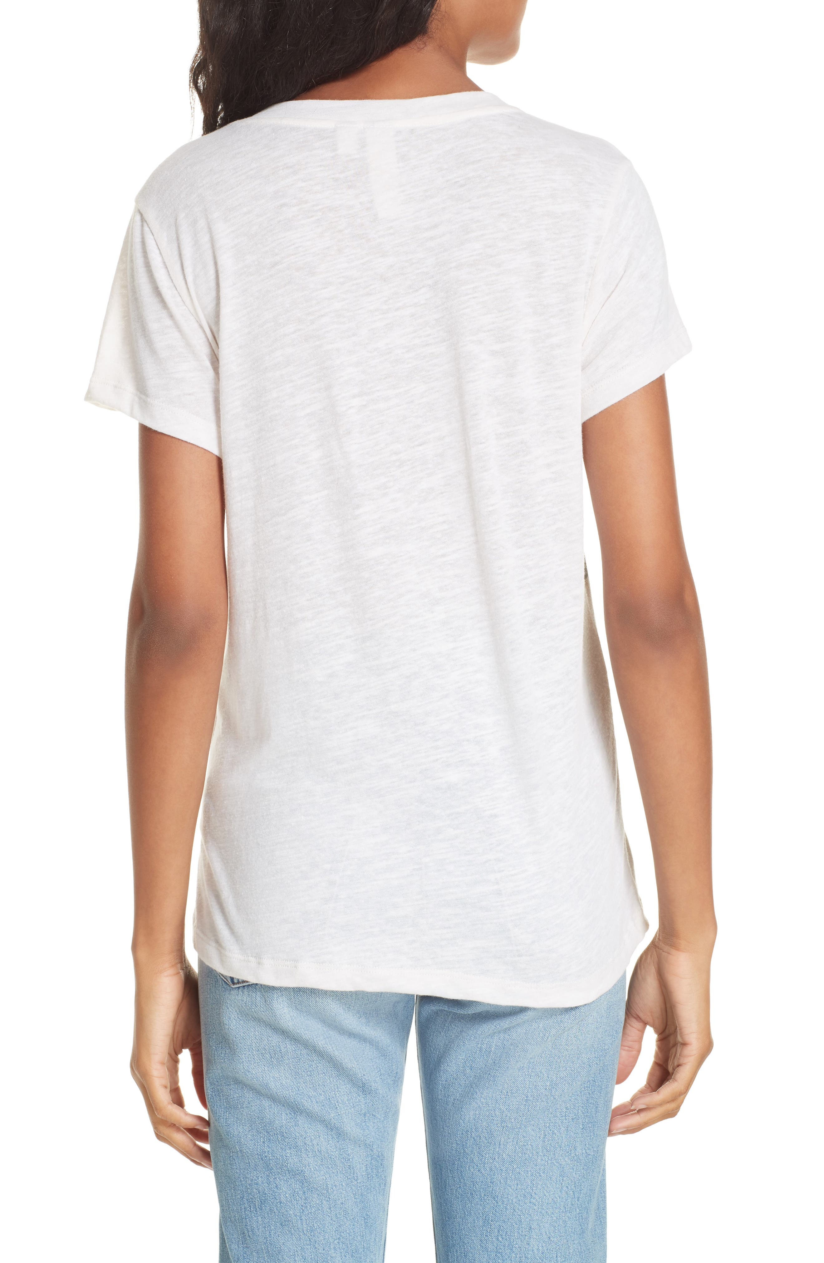 Malibu Embroidered Graphic Tee,                             Alternate thumbnail 2, color,                             IVORY