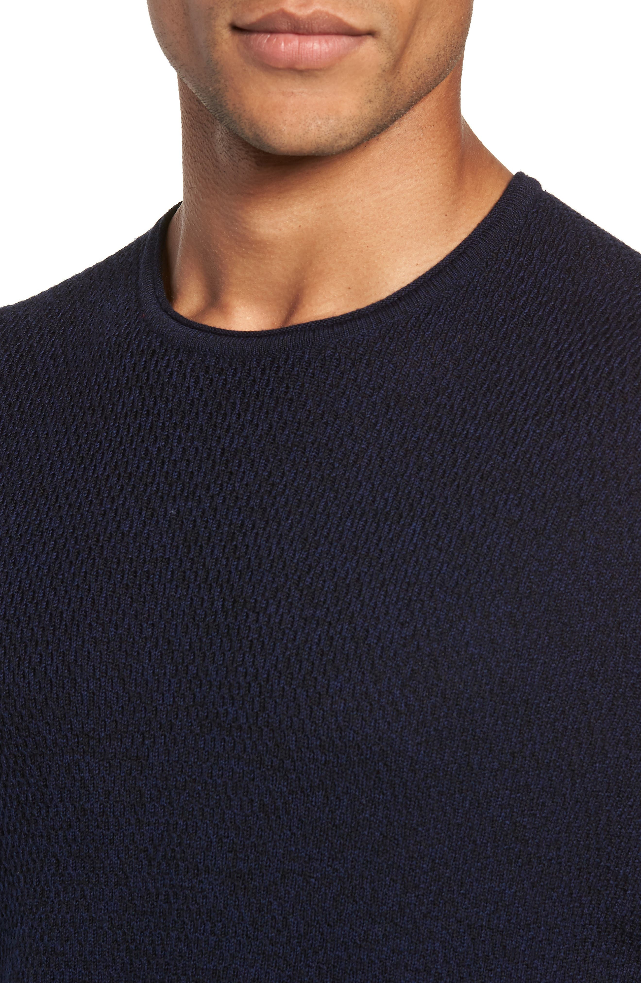 Gregory Wool Blend Crewneck Sweater,                             Alternate thumbnail 4, color,                             NAVY