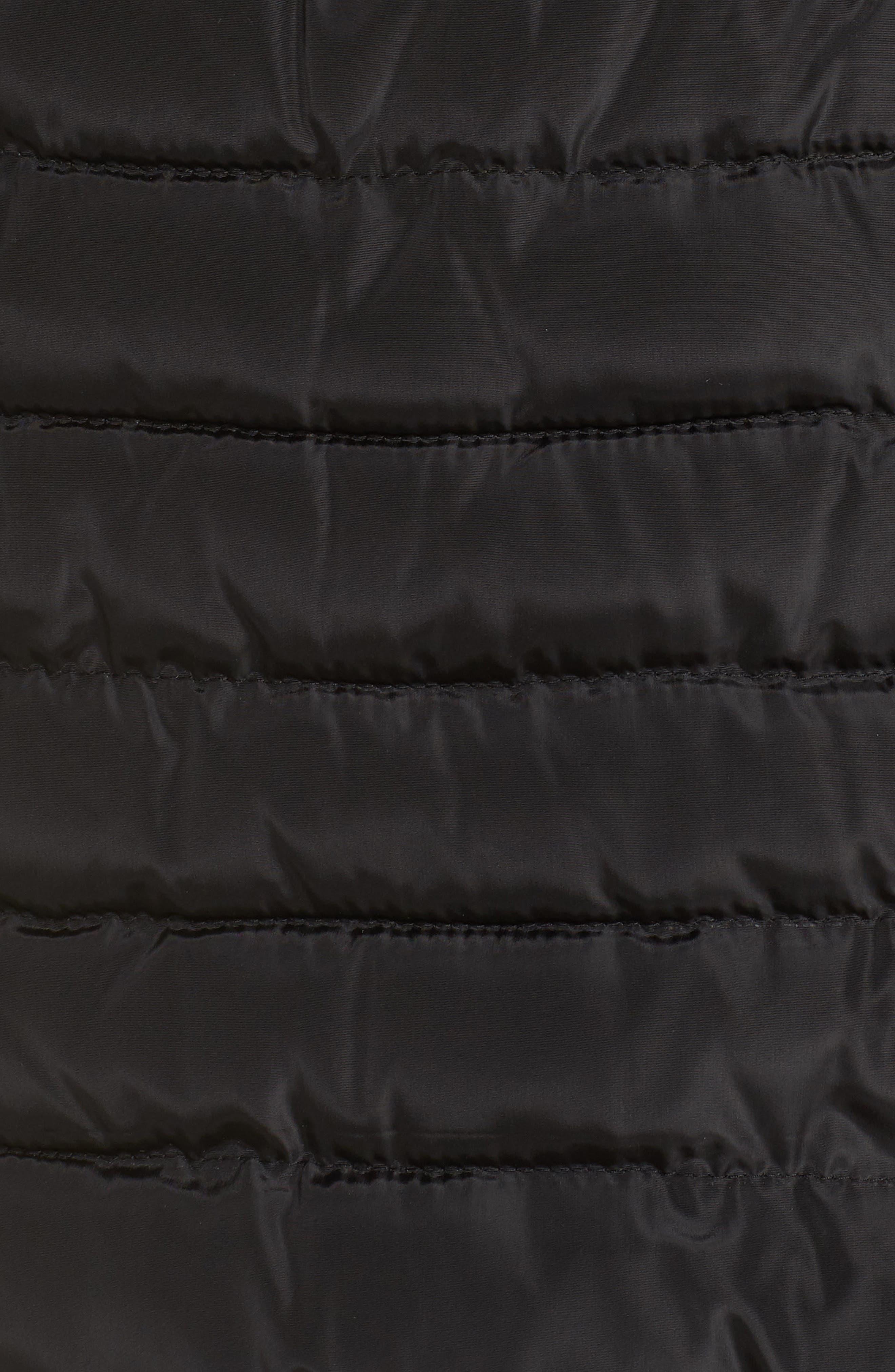 Matte Finish Puffer Coat,                             Alternate thumbnail 7, color,                             001
