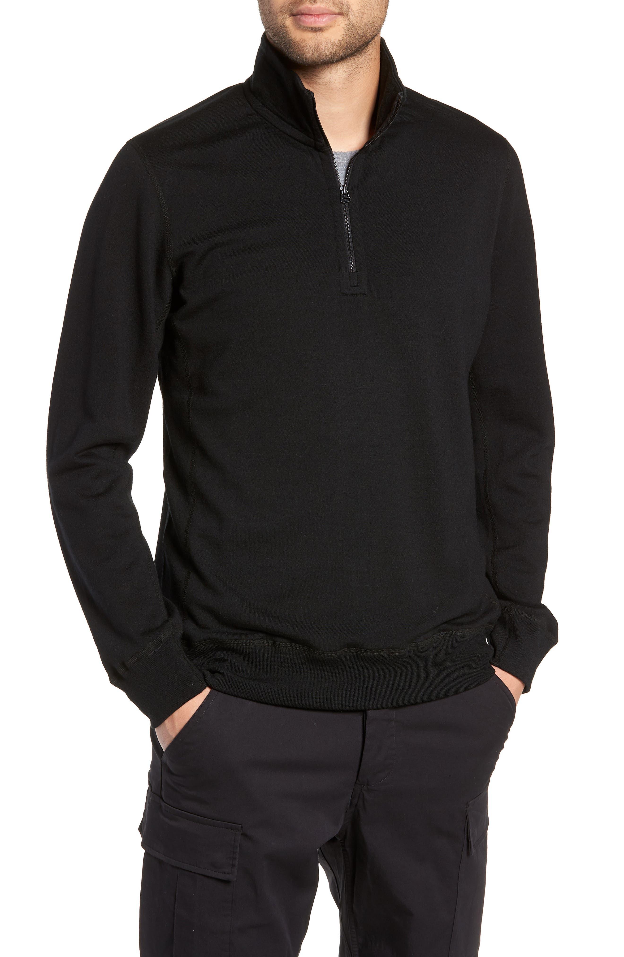 Swedish Merino Wool Trail Shirt,                             Main thumbnail 1, color,                             BLACK