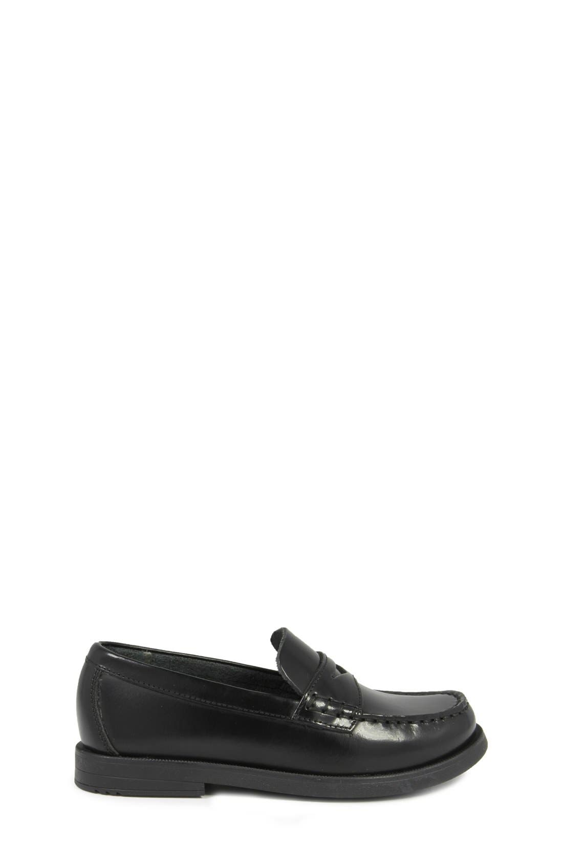 'Croquet' Penny Loafer,                             Alternate thumbnail 9, color,                             BLACK
