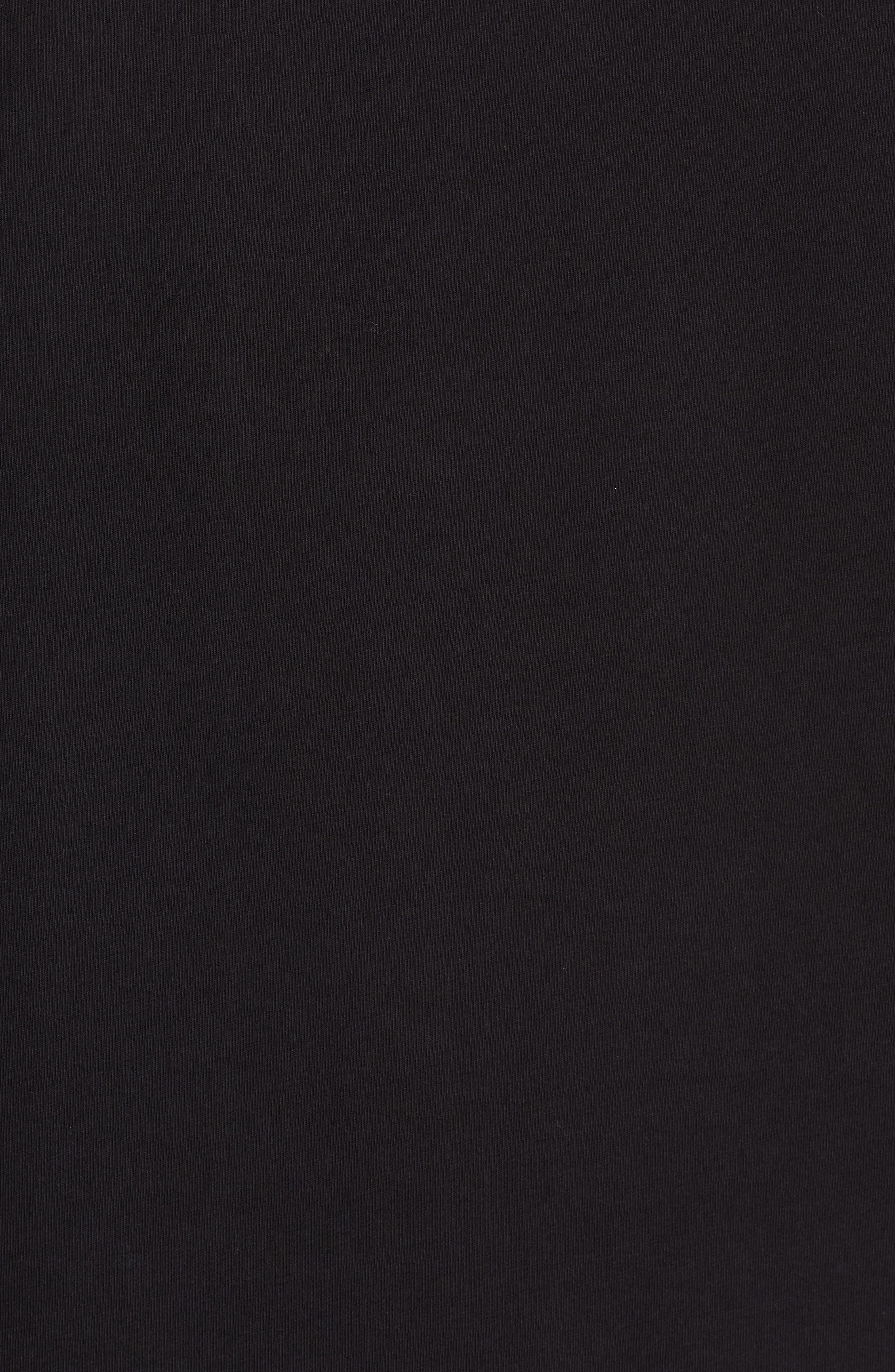 VERSACE COLLECTION,                             Half Medusa T-Shirt,                             Alternate thumbnail 5, color,                             BLACK