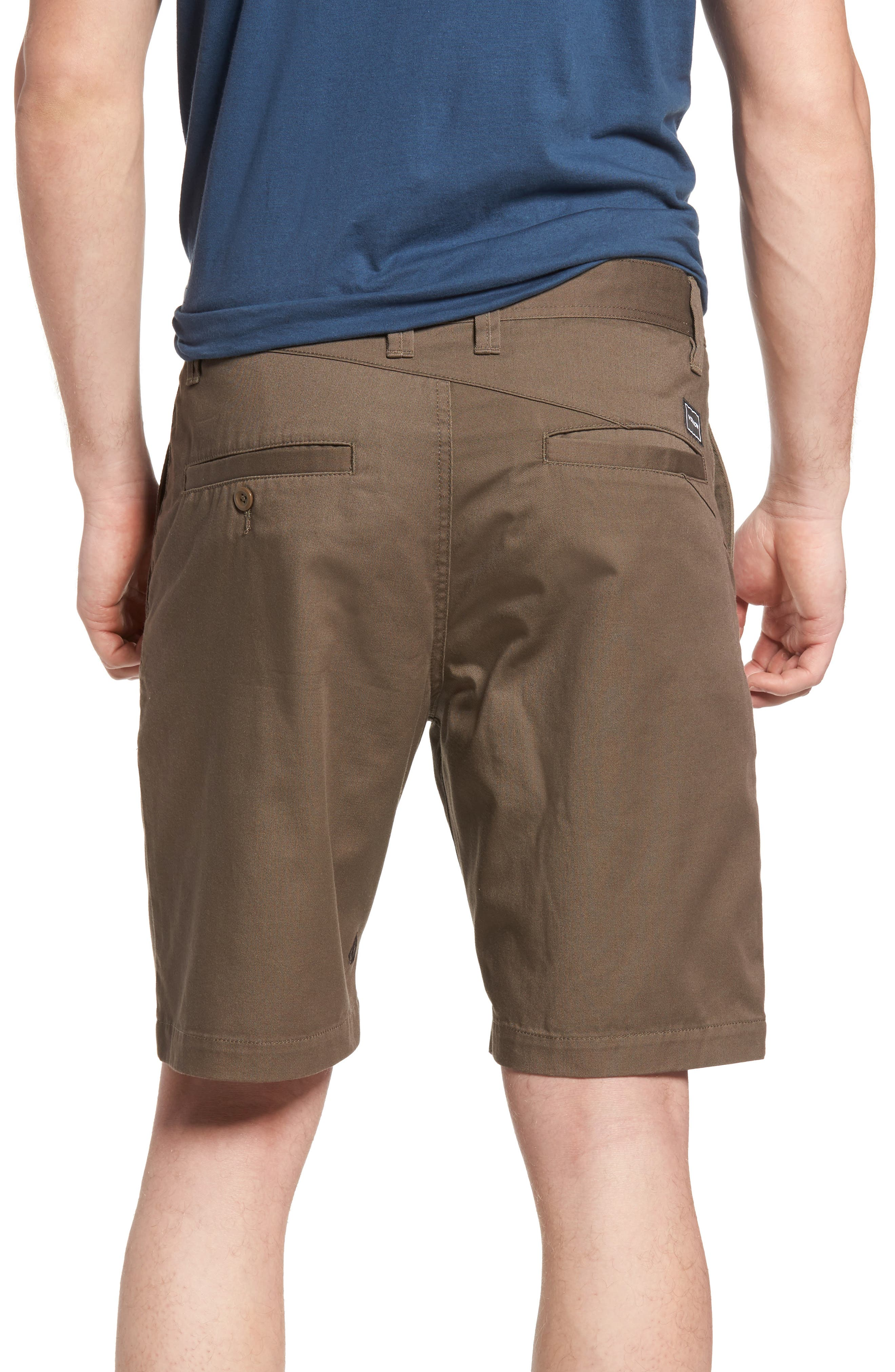 Modern Chino Shorts,                             Alternate thumbnail 2, color,                             MUSHROOM