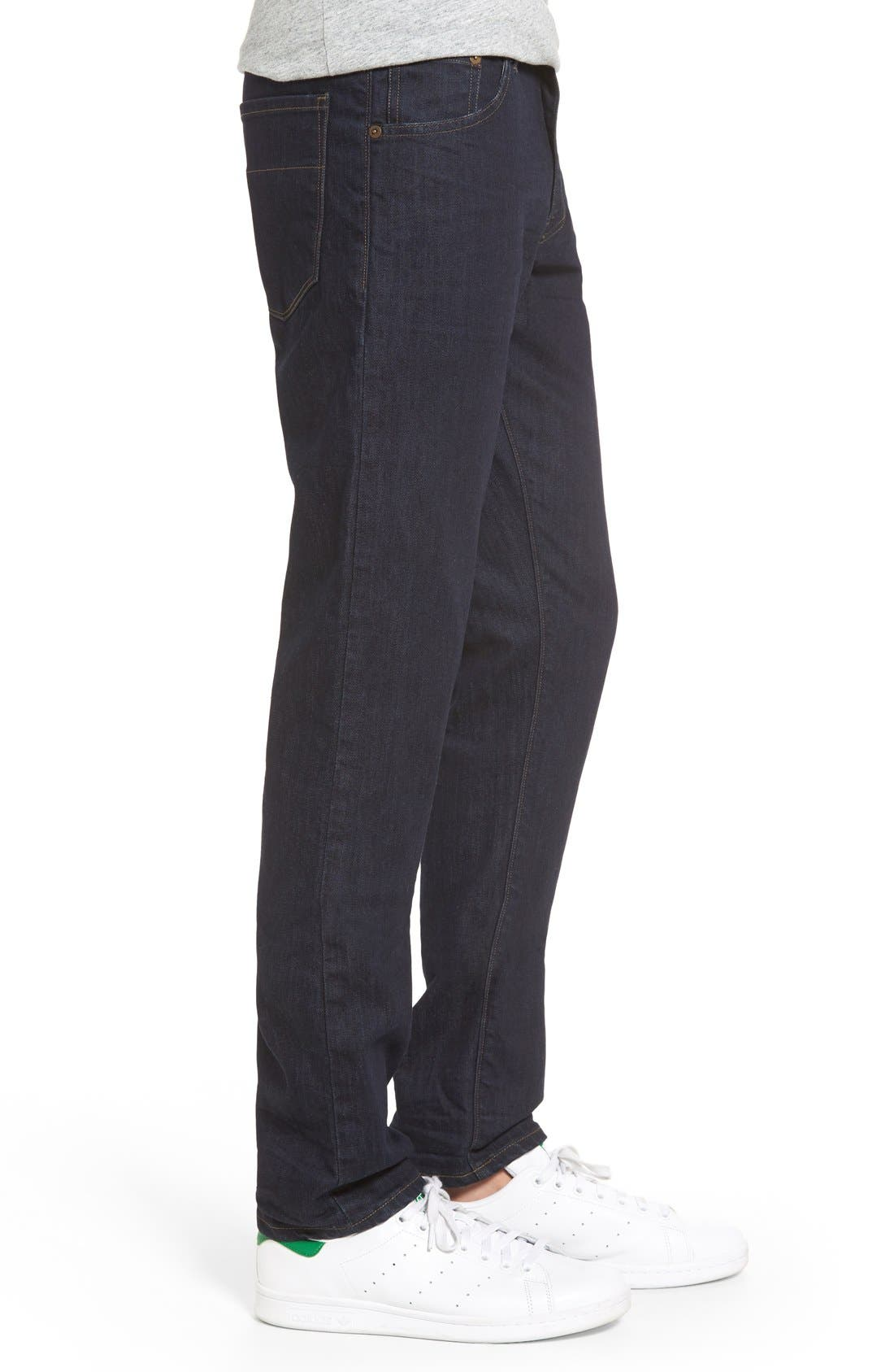 'Jones' Slim Straight Leg Jeans,                             Alternate thumbnail 3, color,                             418