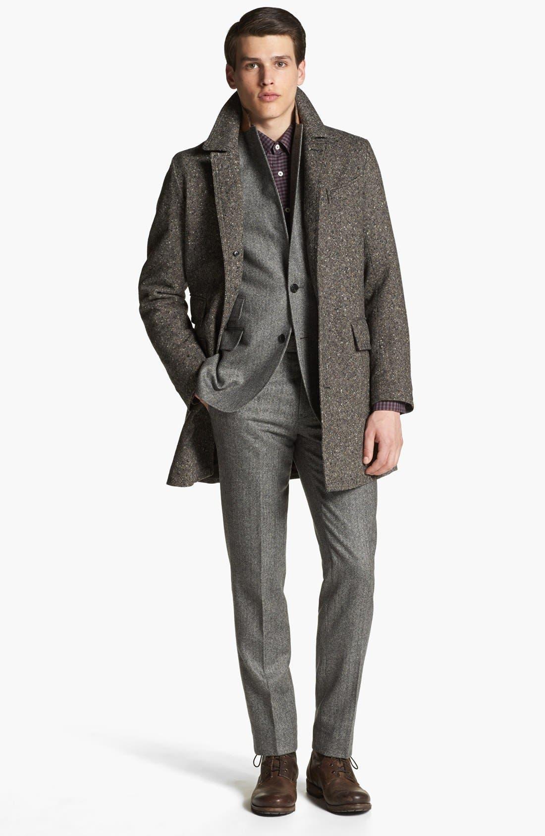 BILLY REID,                             'Astor' Tweed Overcoat,                             Alternate thumbnail 2, color,                             092