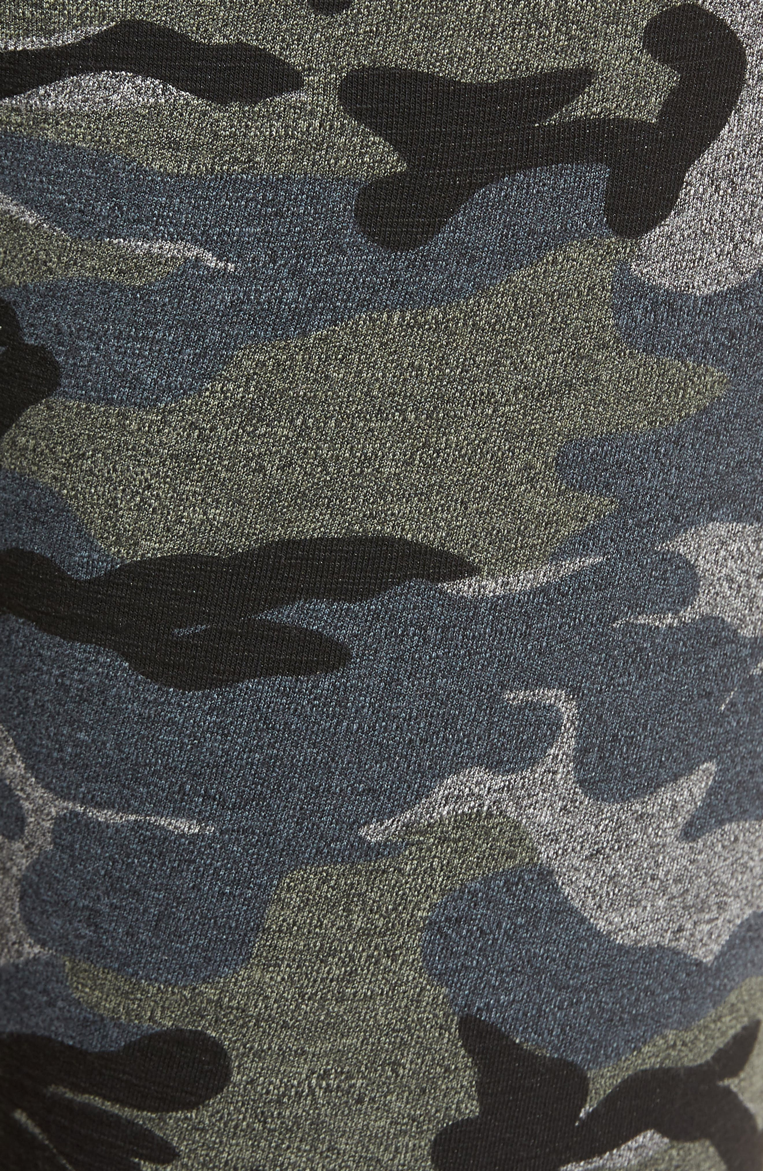 Stripe Camo Yoga Pants,                             Alternate thumbnail 6, color,                             020