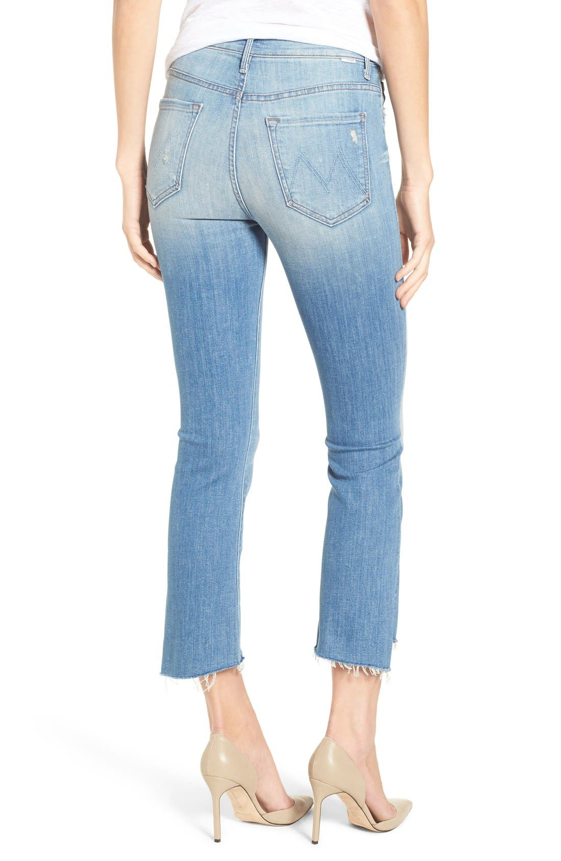 'The Insider' Crop Step Fray Jeans,                             Alternate thumbnail 2, color,                             SHAKE WELL