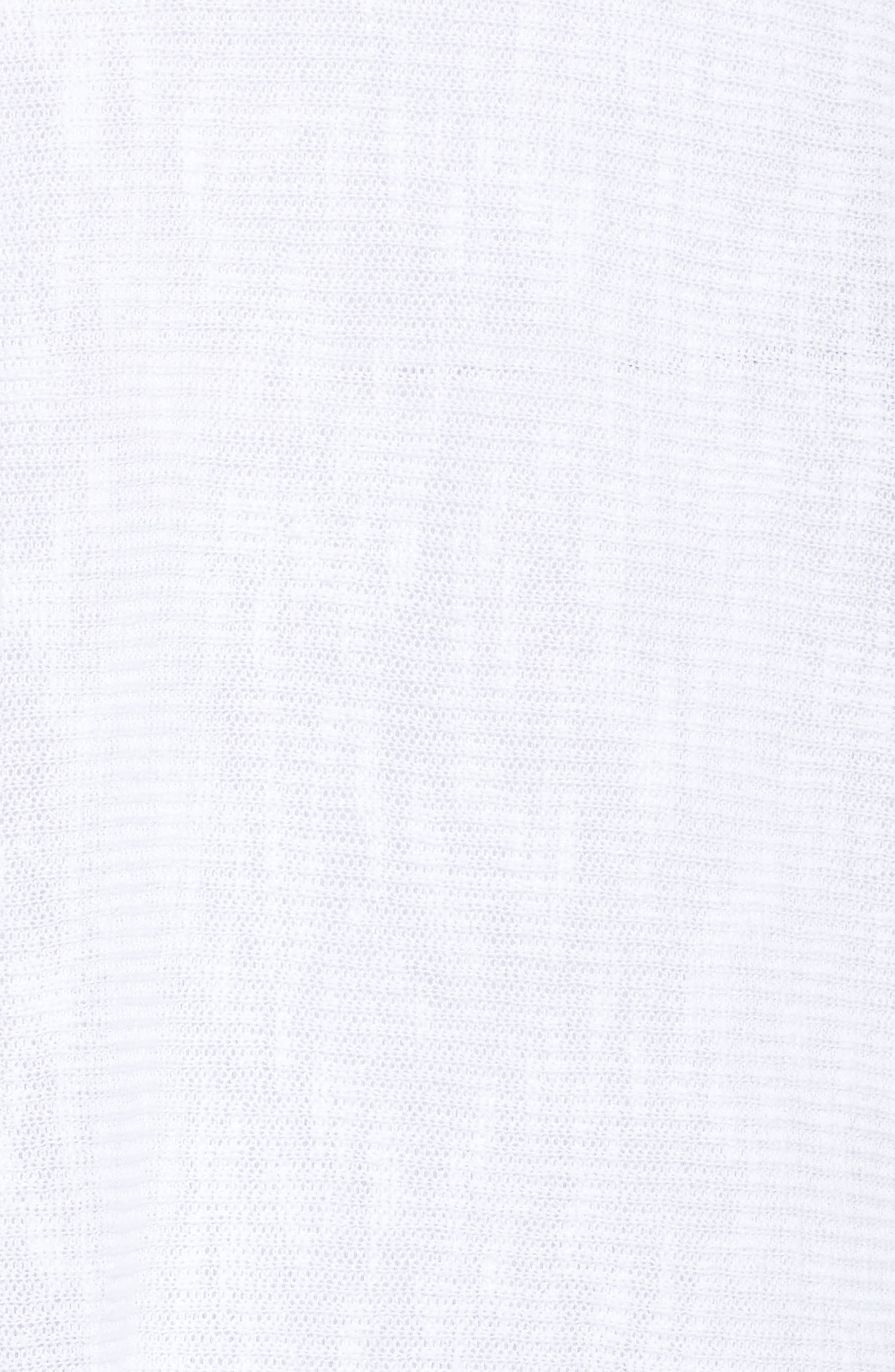 Organic Linen & Cotton Rib Sweater,                             Alternate thumbnail 5, color,                             100