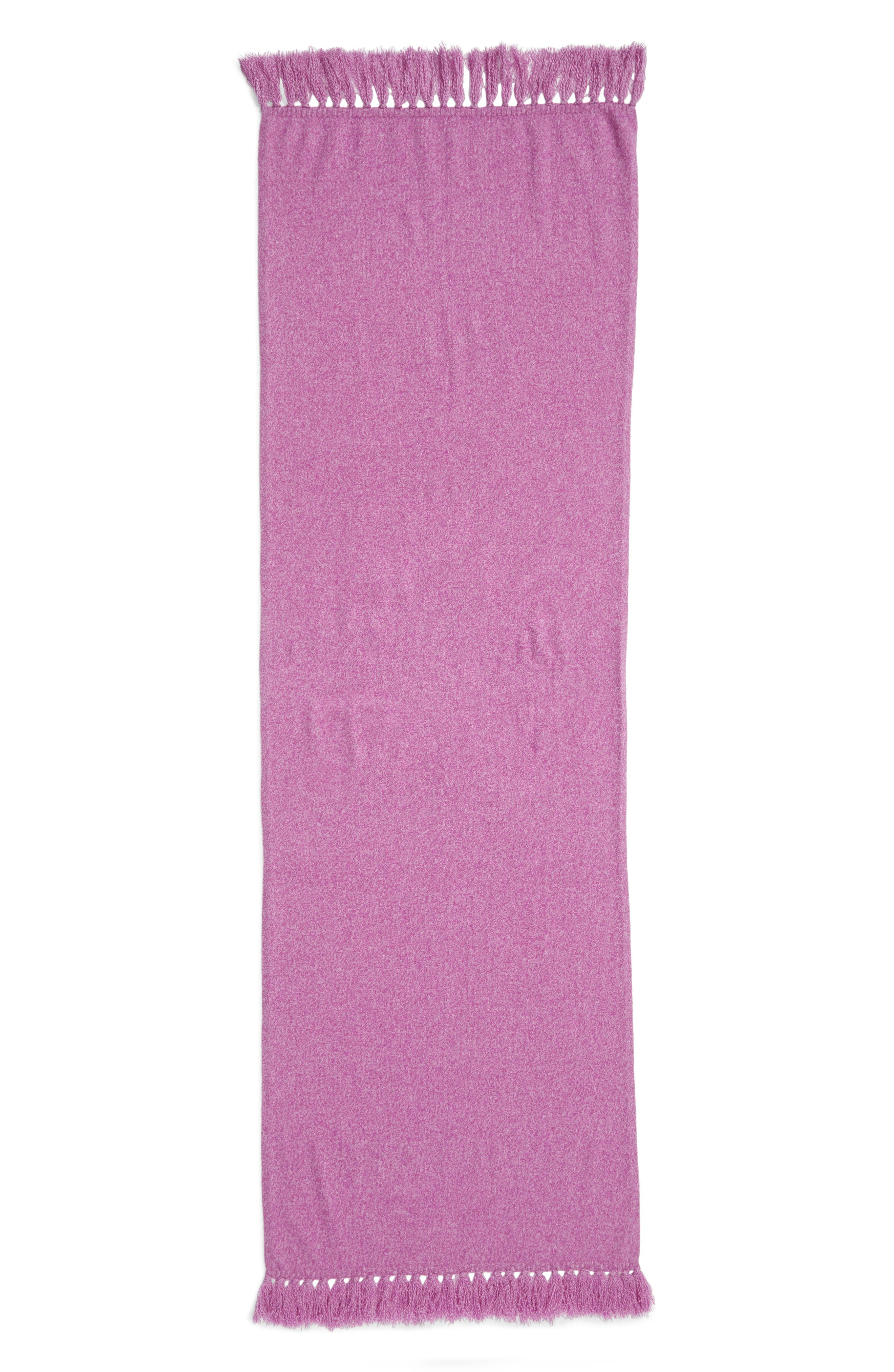 Marled Cashmere Muffler,                             Alternate thumbnail 3, color,                             PURPLE COMBO