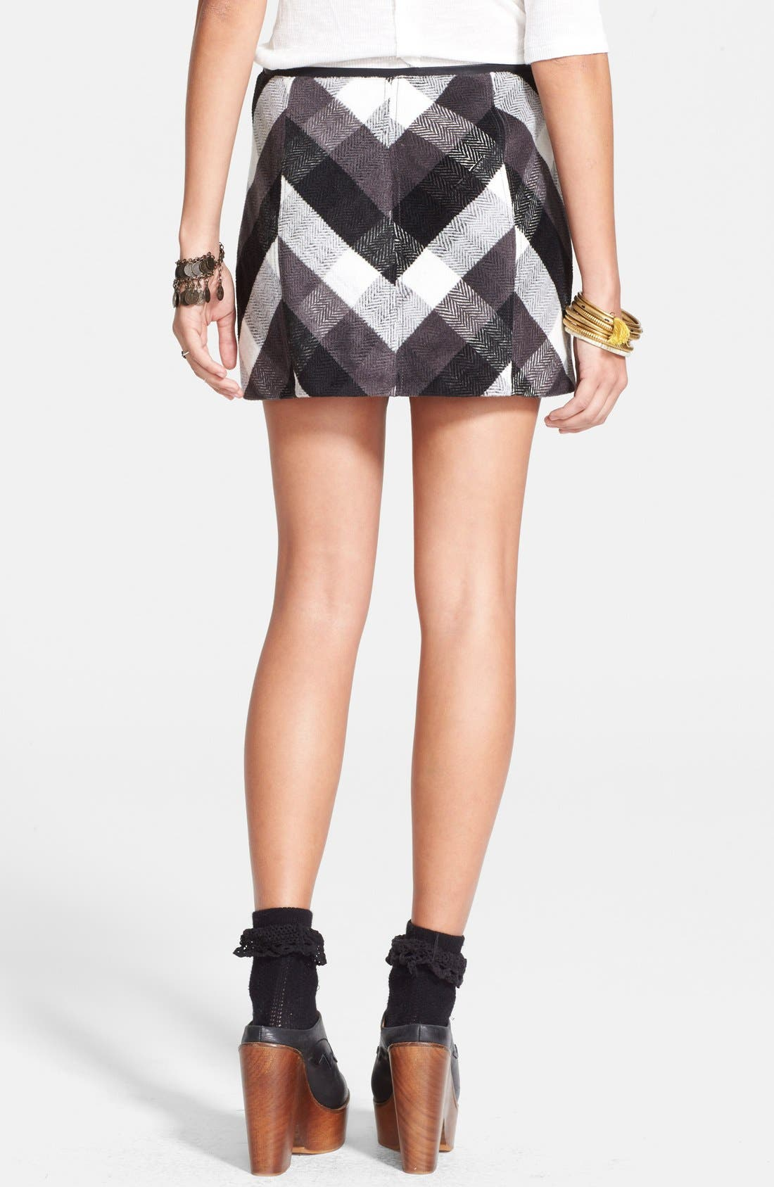 Plaid Skirt,                             Alternate thumbnail 3, color,                             020