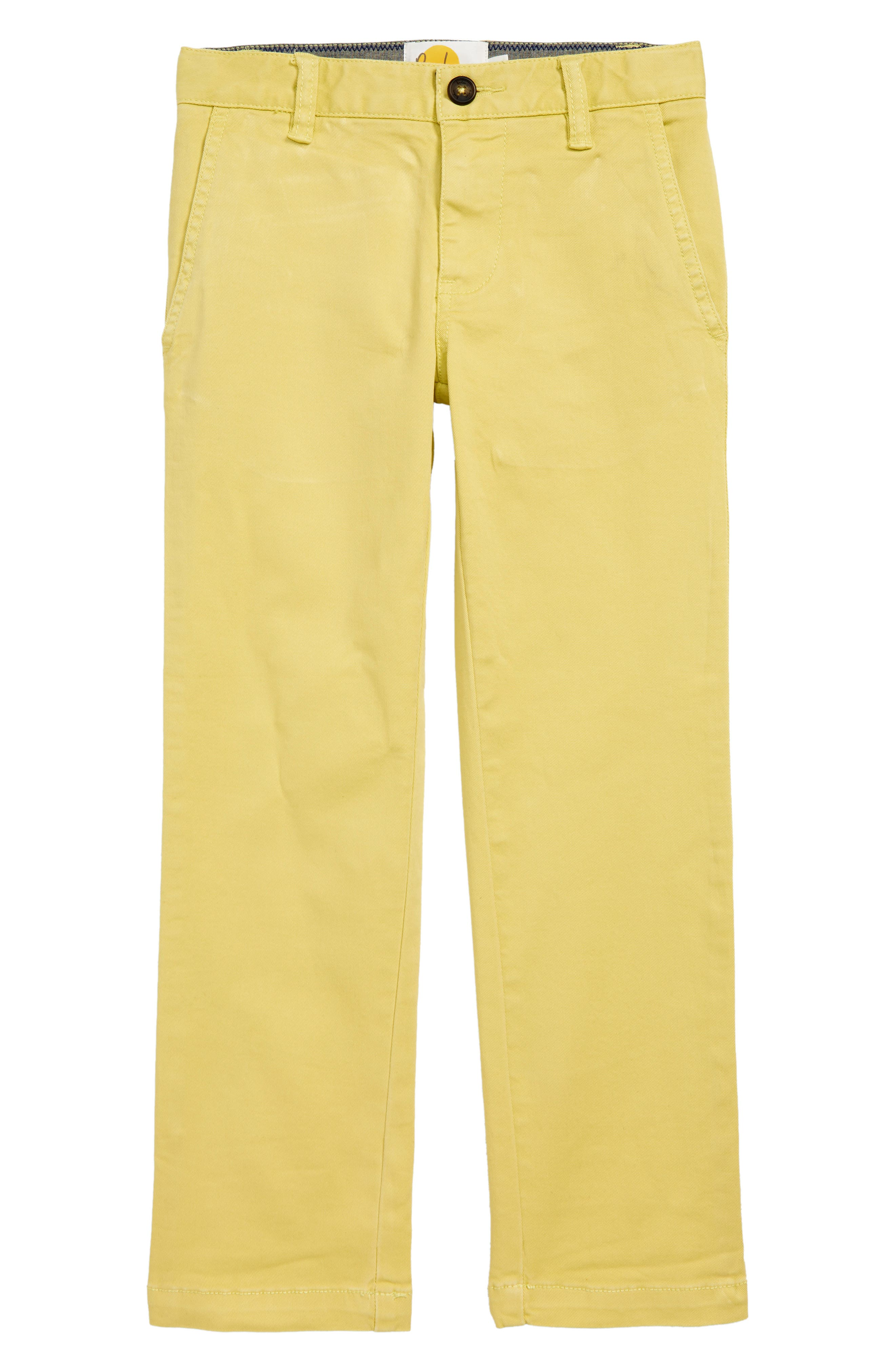 Toddler Boys Mini Boden Chino Pants Size 3Y  Yellow