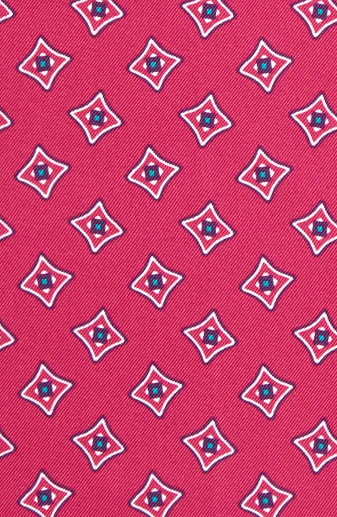 Medallion Silk Pocket Square,                             Alternate thumbnail 9, color,