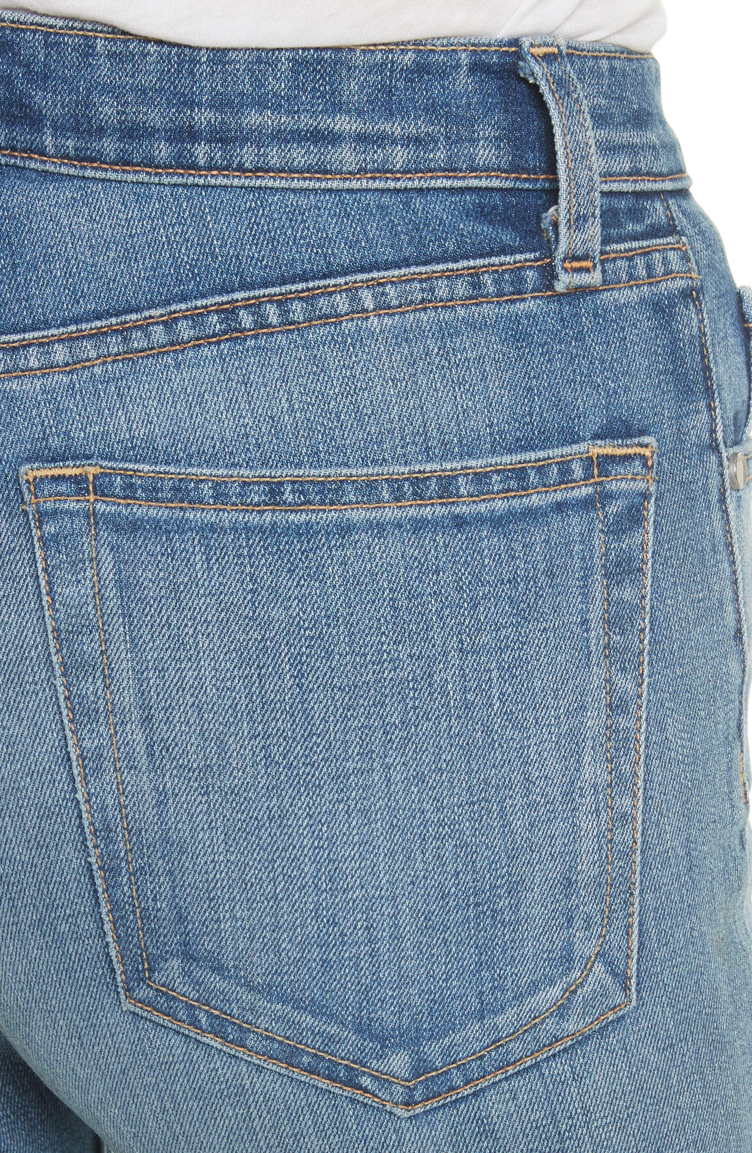 Straight Leg Jeans,                             Alternate thumbnail 4, color,                             420