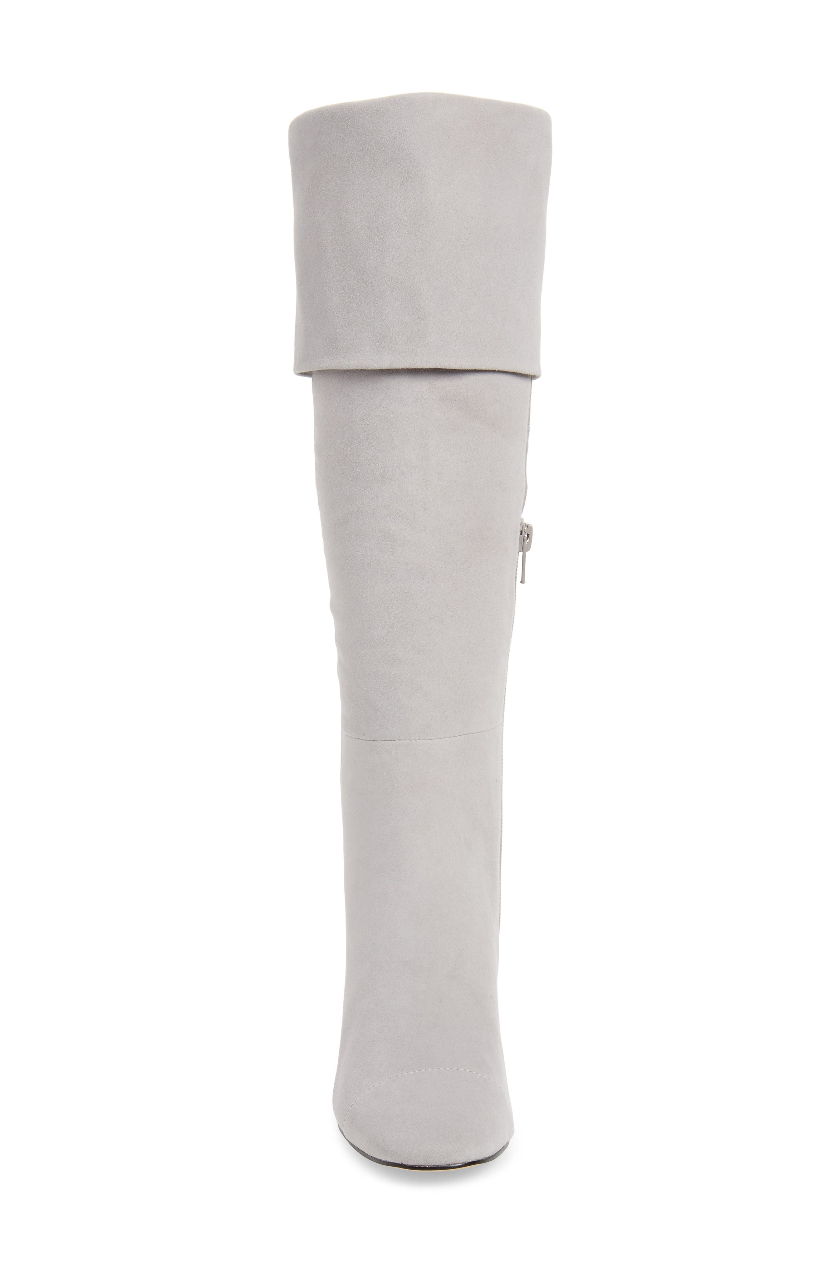 Mia Knee High Boot,                             Alternate thumbnail 5, color,                             LIGHT GREY SUEDE