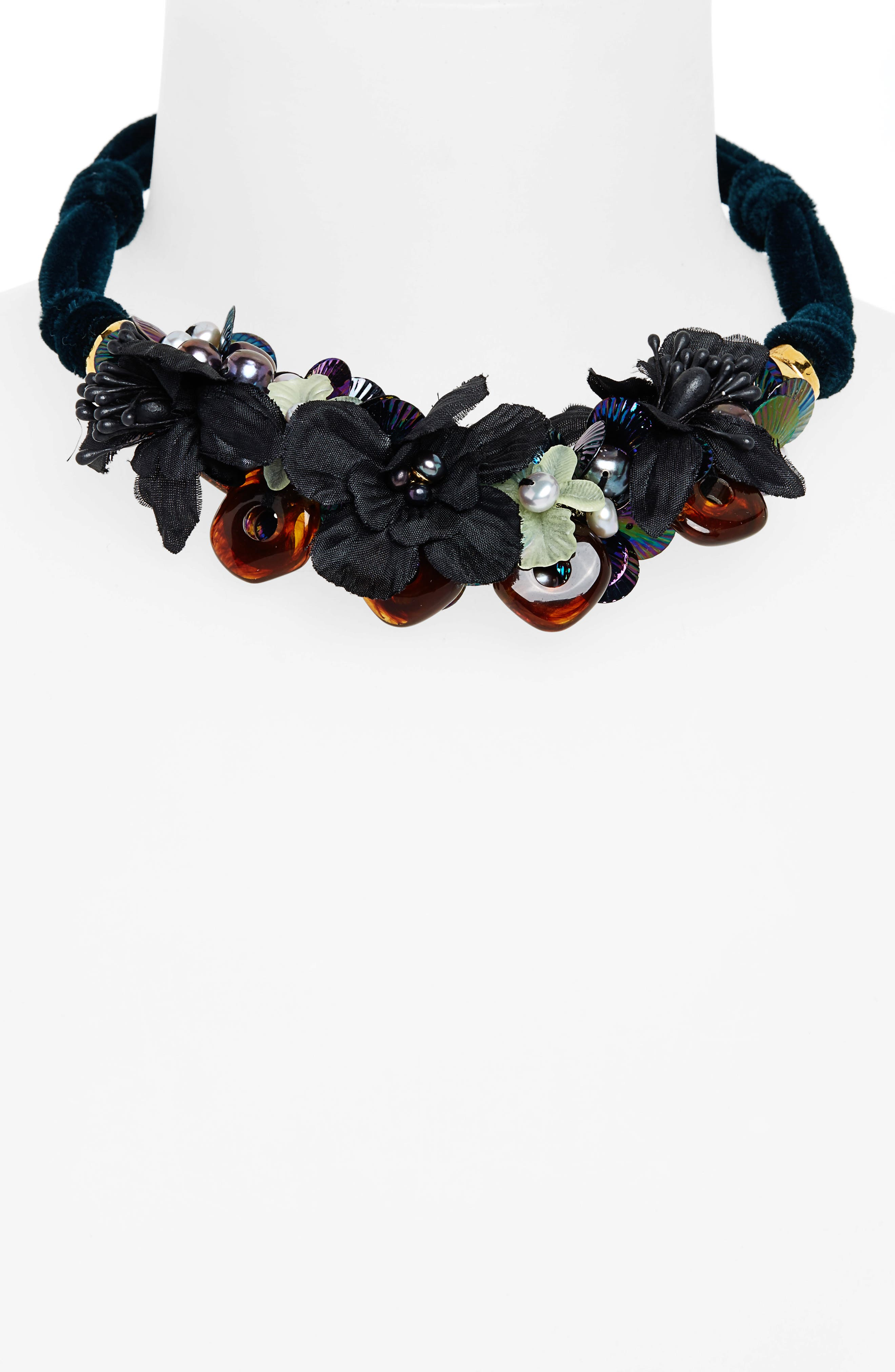Grasslands Velvet Collar Necklace,                             Alternate thumbnail 2, color,                             300