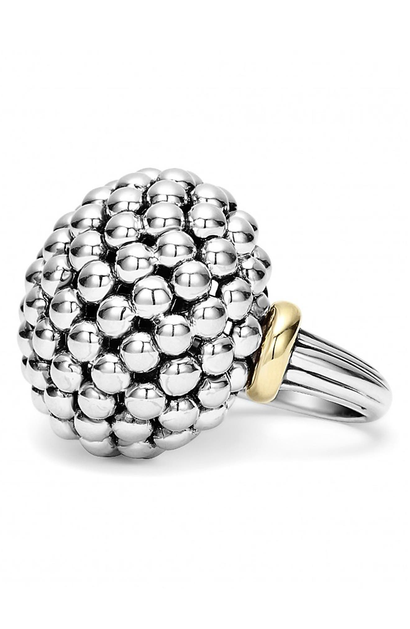 'Caviar Forever' Large Dome Ring,                             Alternate thumbnail 4, color,                             040