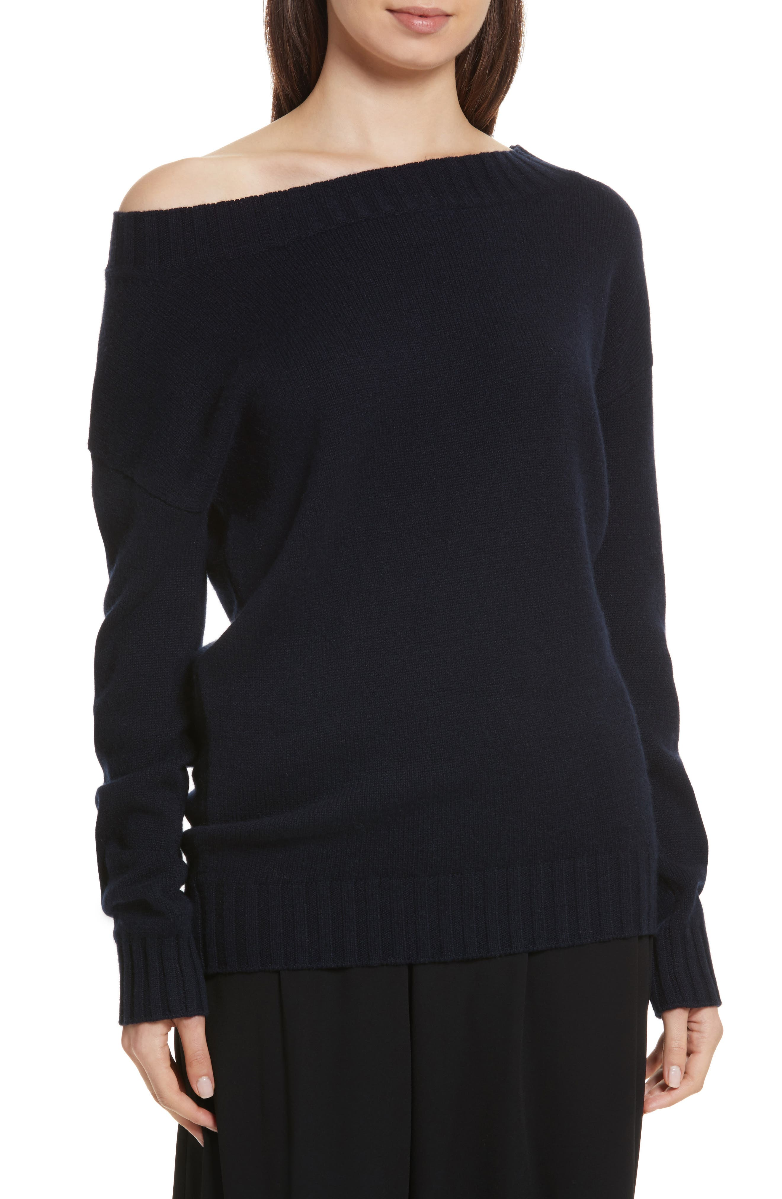 Off the Shoulder Wool & Cashmere Sweater,                             Main thumbnail 1, color,                             403