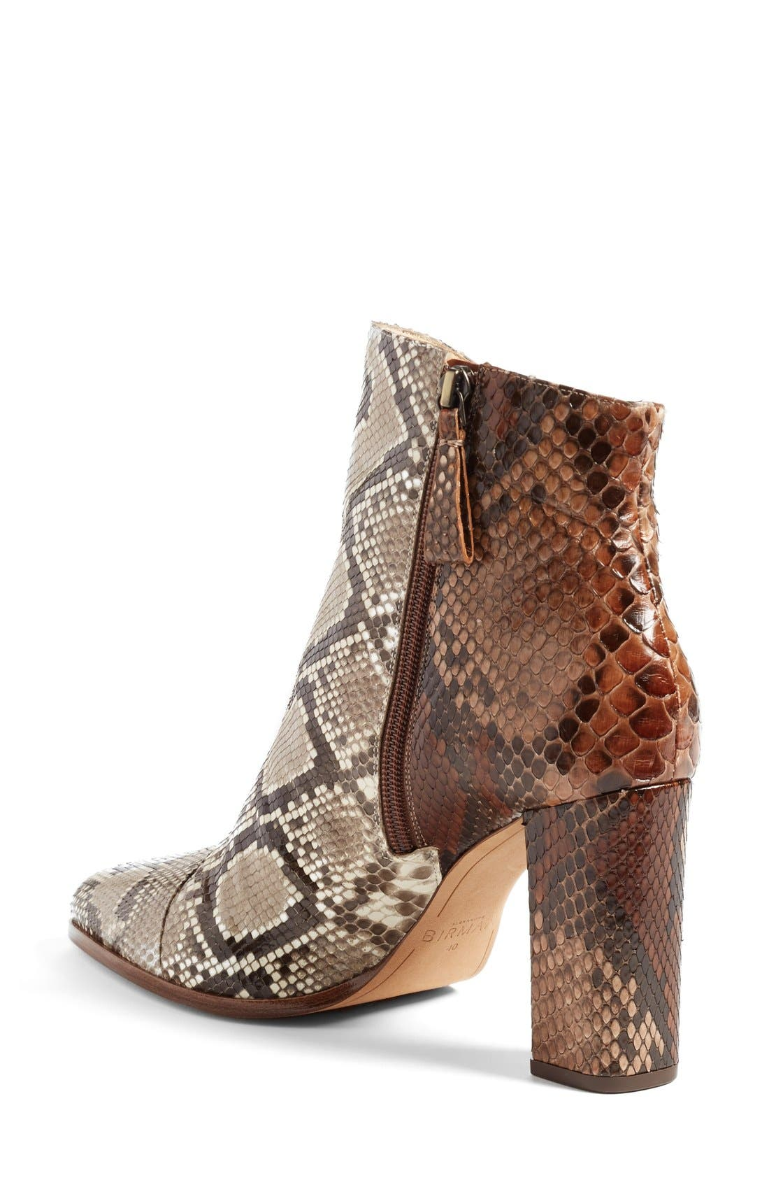 'Kendal' Genuine Python Skin Pointy Toe Bootie,                             Alternate thumbnail 4, color,                             250