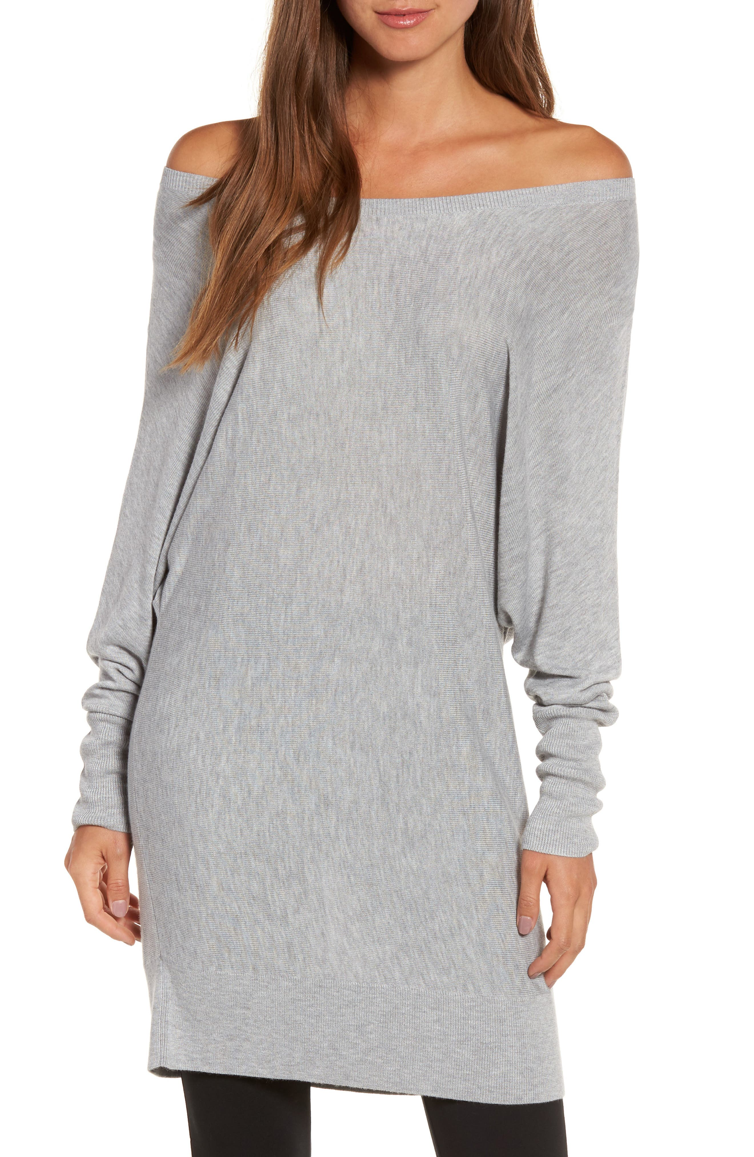 Off the Shoulder Sweater Tunic,                             Main thumbnail 3, color,