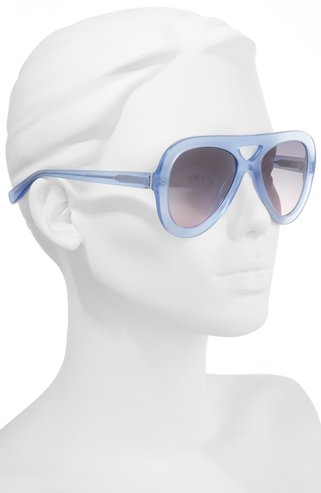 54mm Aviator Sunglasses,                             Alternate thumbnail 2, color,                             IRIS