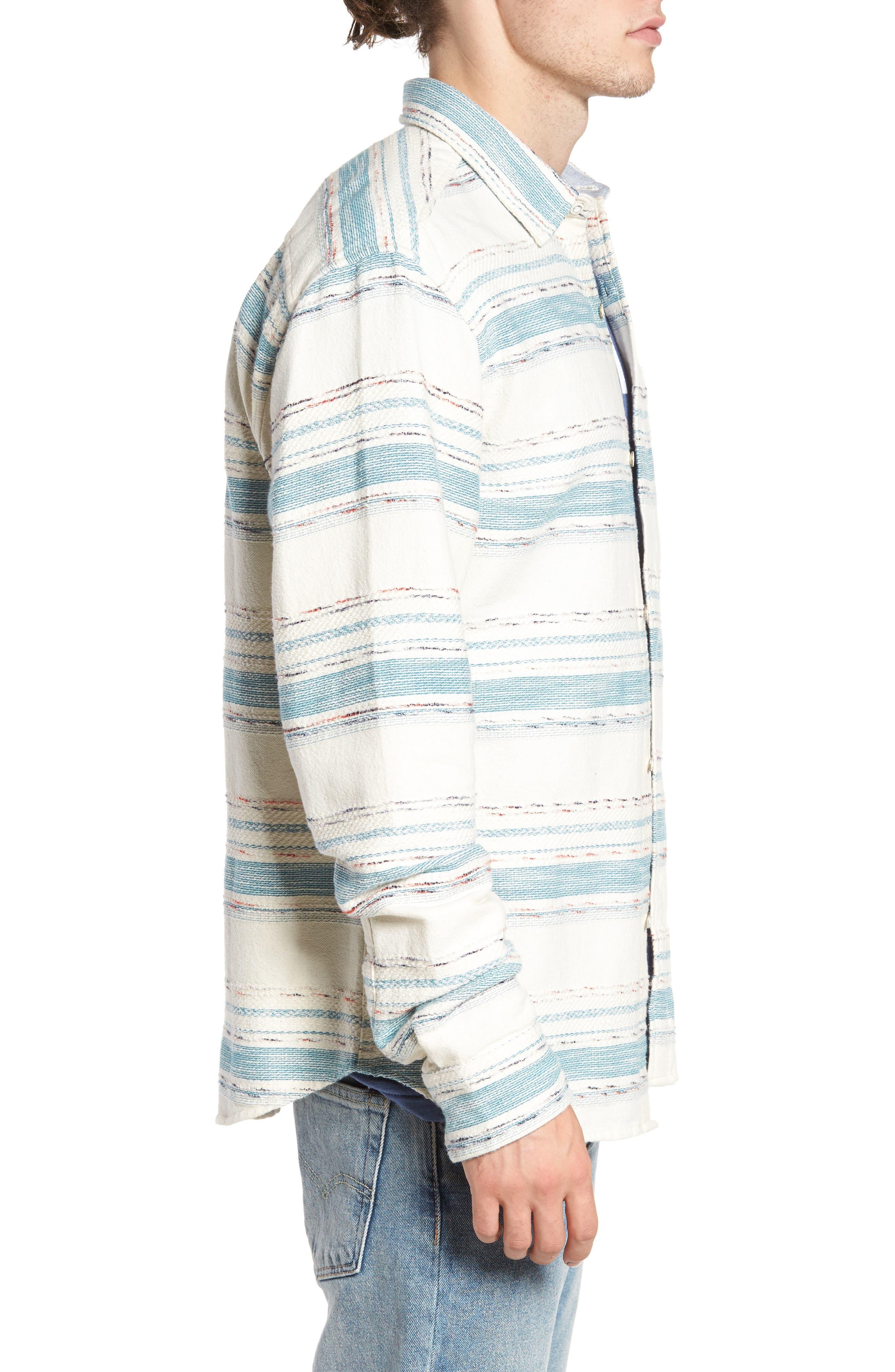 Sedona Stripe Woven Shirt,                             Alternate thumbnail 3, color,                             101