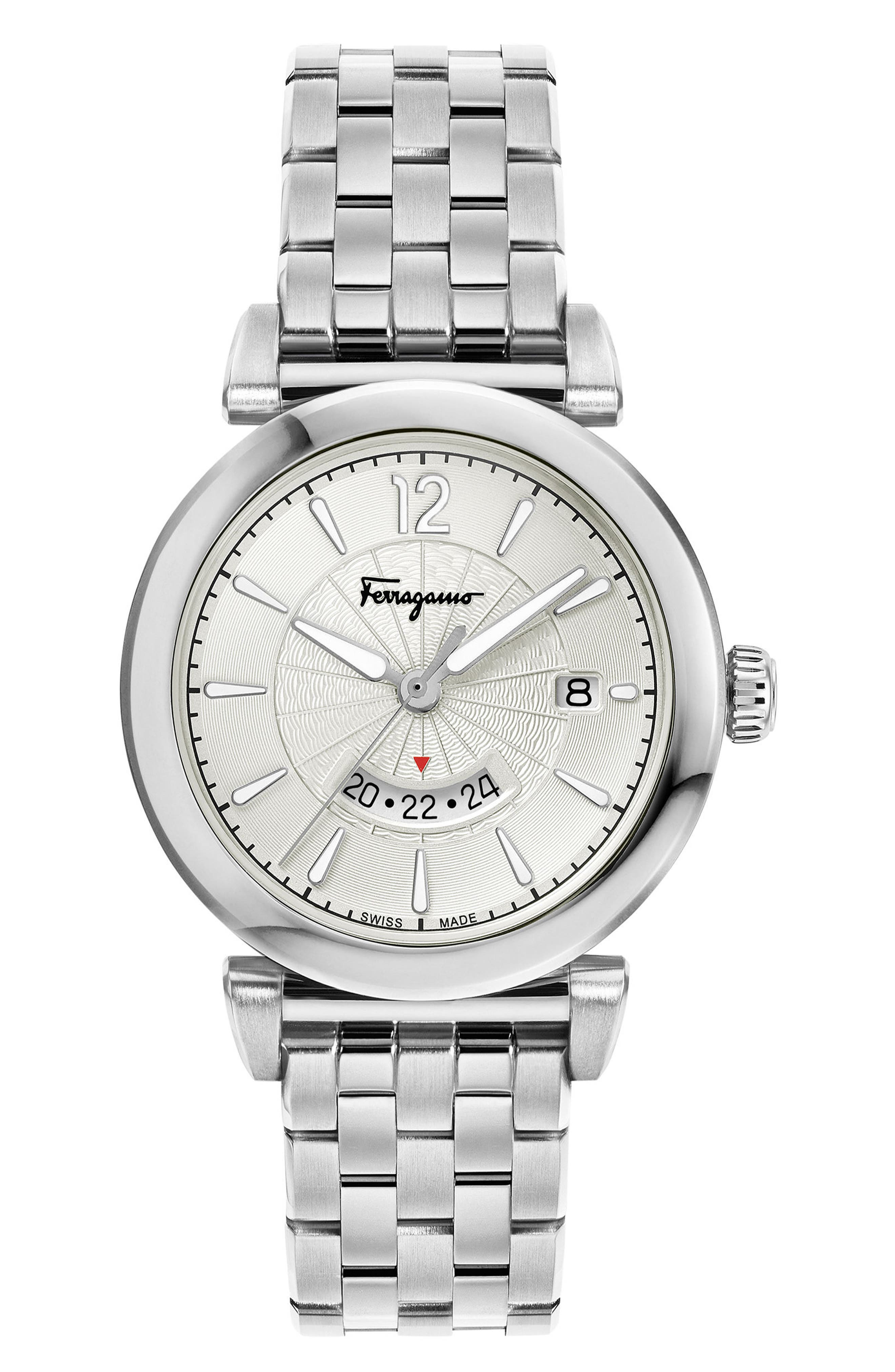Feroni Bracelet Watch, 40mm,                             Main thumbnail 1, color,                             SILVER