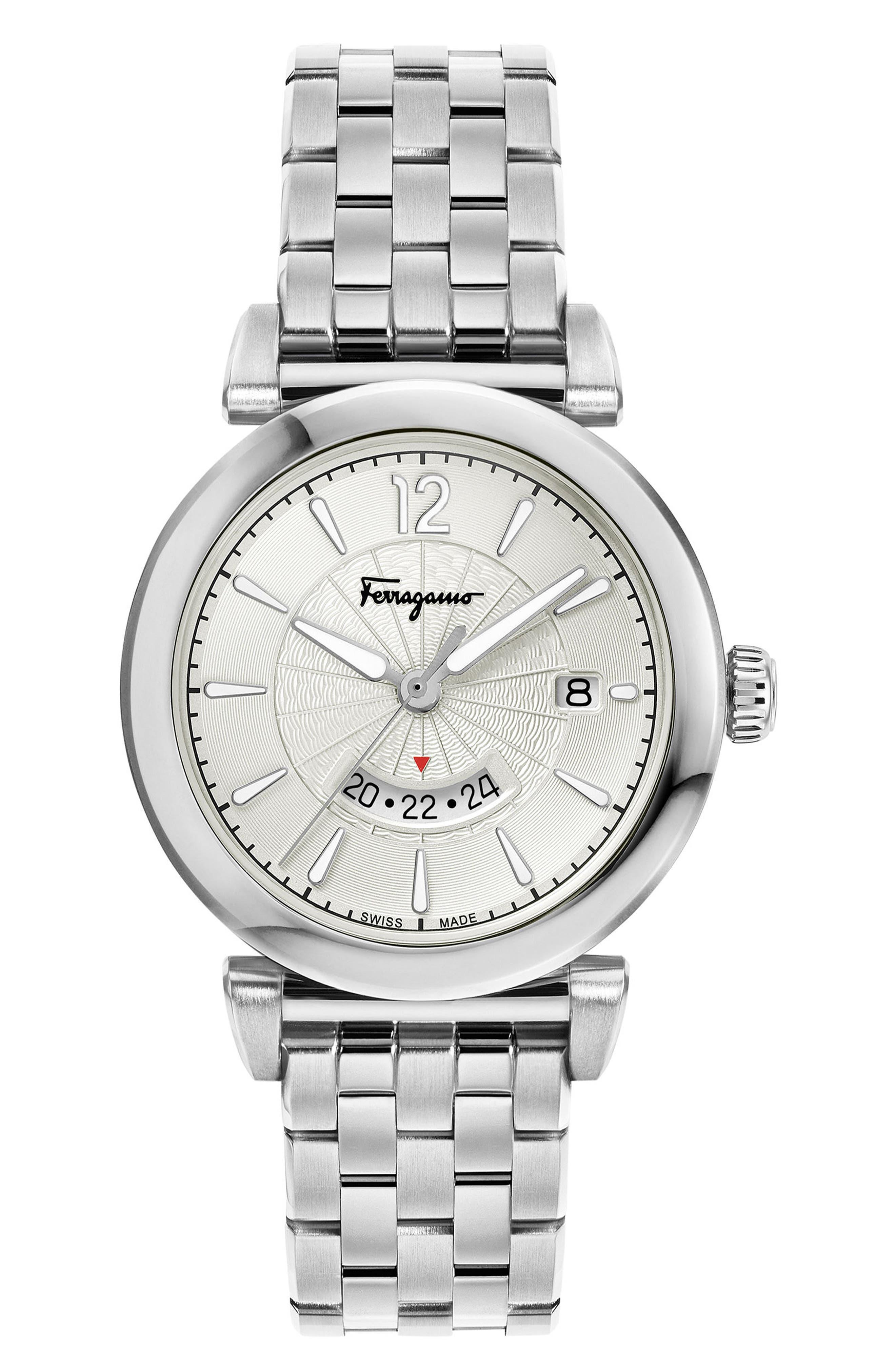 Feroni Bracelet Watch, 40mm,                         Main,                         color, SILVER