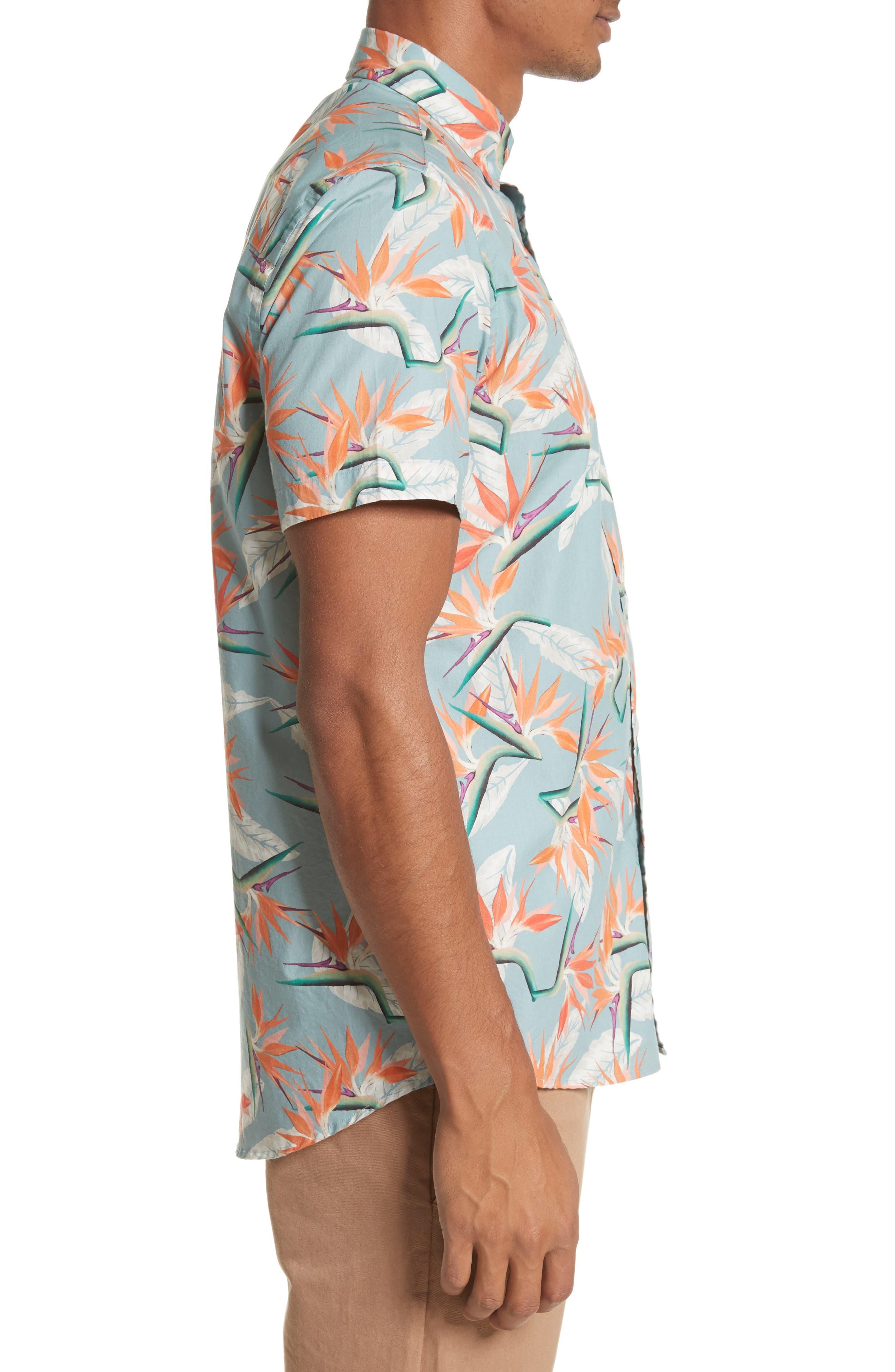 Esquina Paradise Woven Shirt,                             Alternate thumbnail 3, color,                             PARADISE PRINT