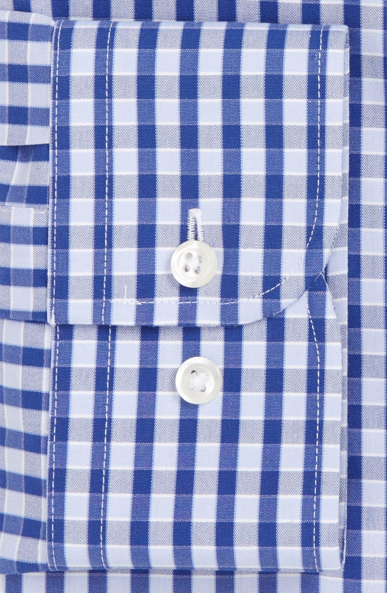 Smartcare<sup>™</sup> Trim Fit Check Dress Shirt,                             Alternate thumbnail 5, color,