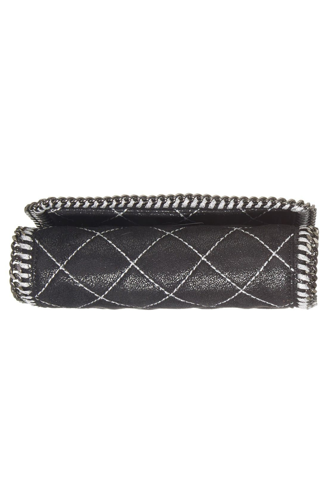 'Falabella' Quilted Faux Leather Crossbody Bag,                             Alternate thumbnail 22, color,