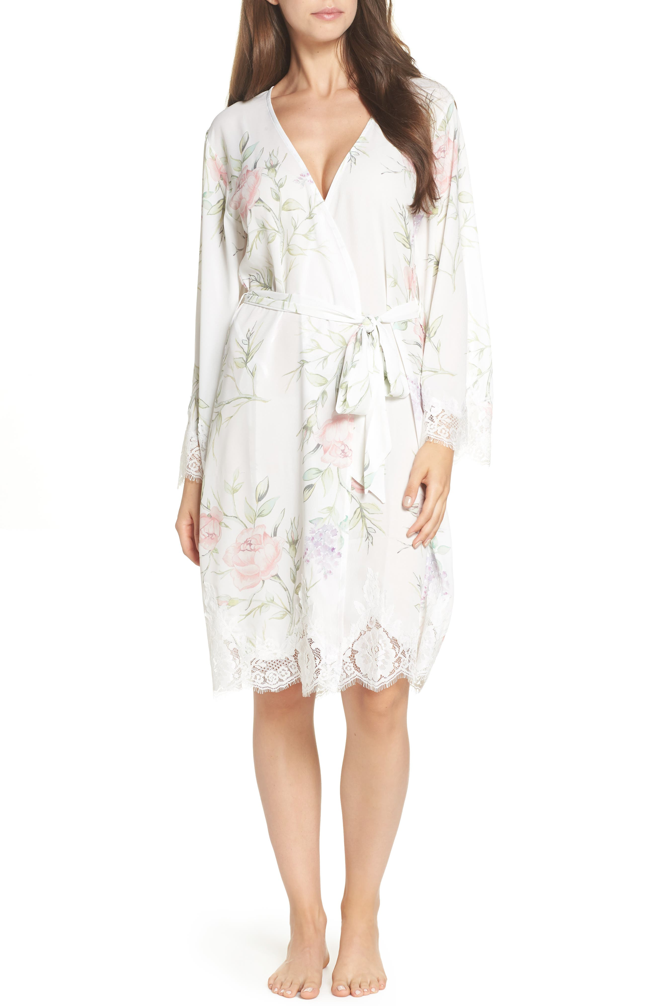 Sofia Kimono Robe,                             Main thumbnail 1, color,                             PURPLE FLORAL