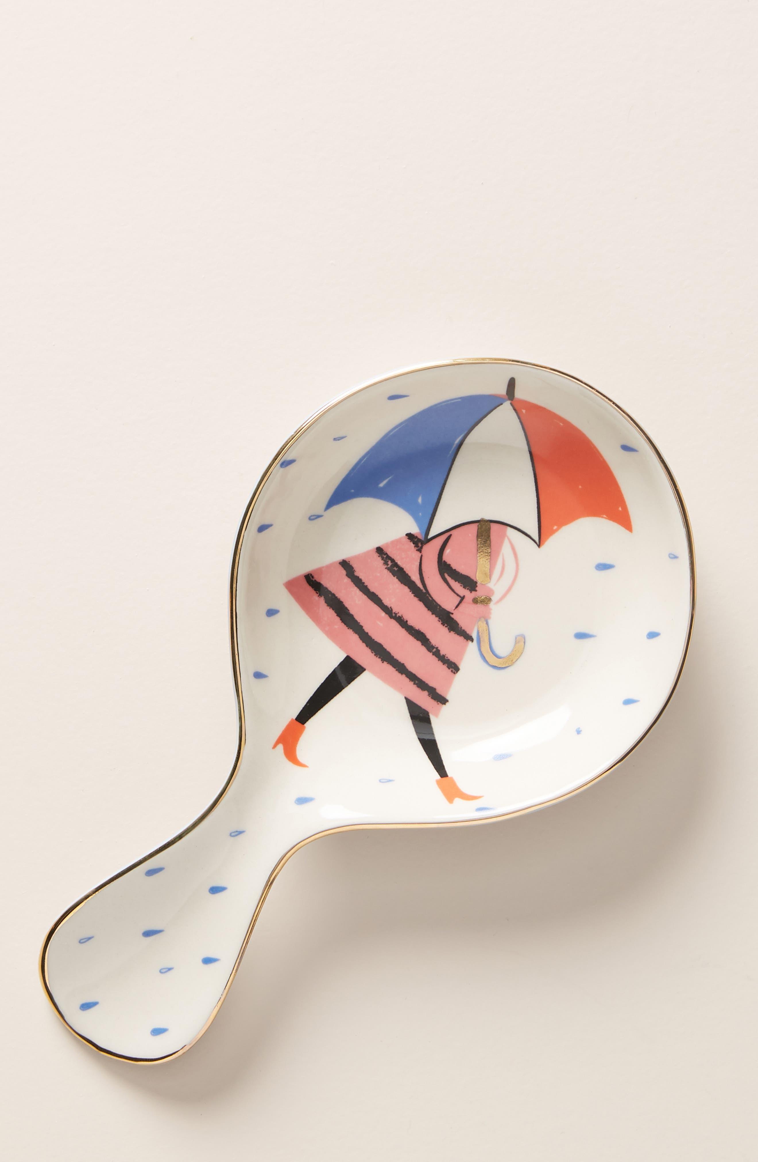 ANTHROPOLOGIE Libby VanderPloeg Spoon Rest, Main, color, WHITE MULTI