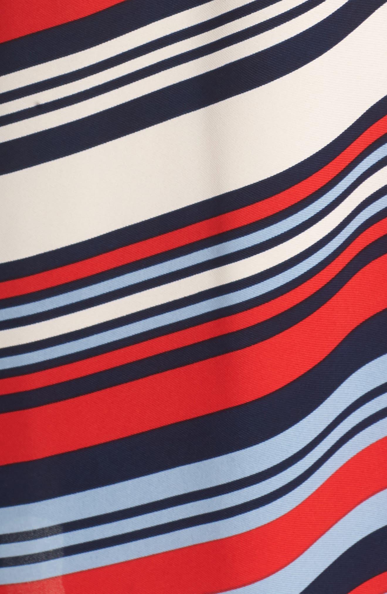 Milan Stripe Wrap Dress,                             Alternate thumbnail 6, color,