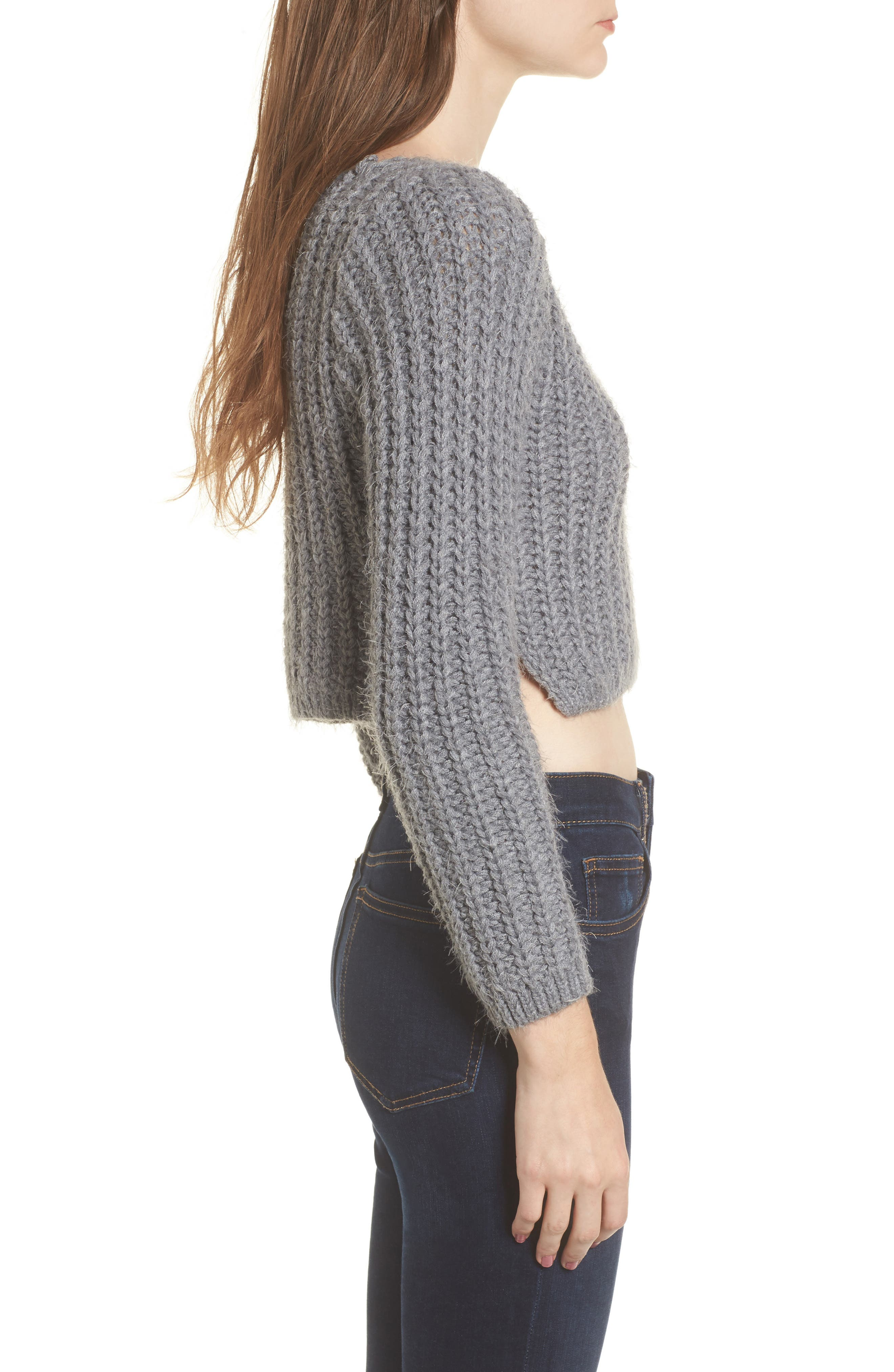 Bethany Crop Sweater,                             Alternate thumbnail 3, color,                             020