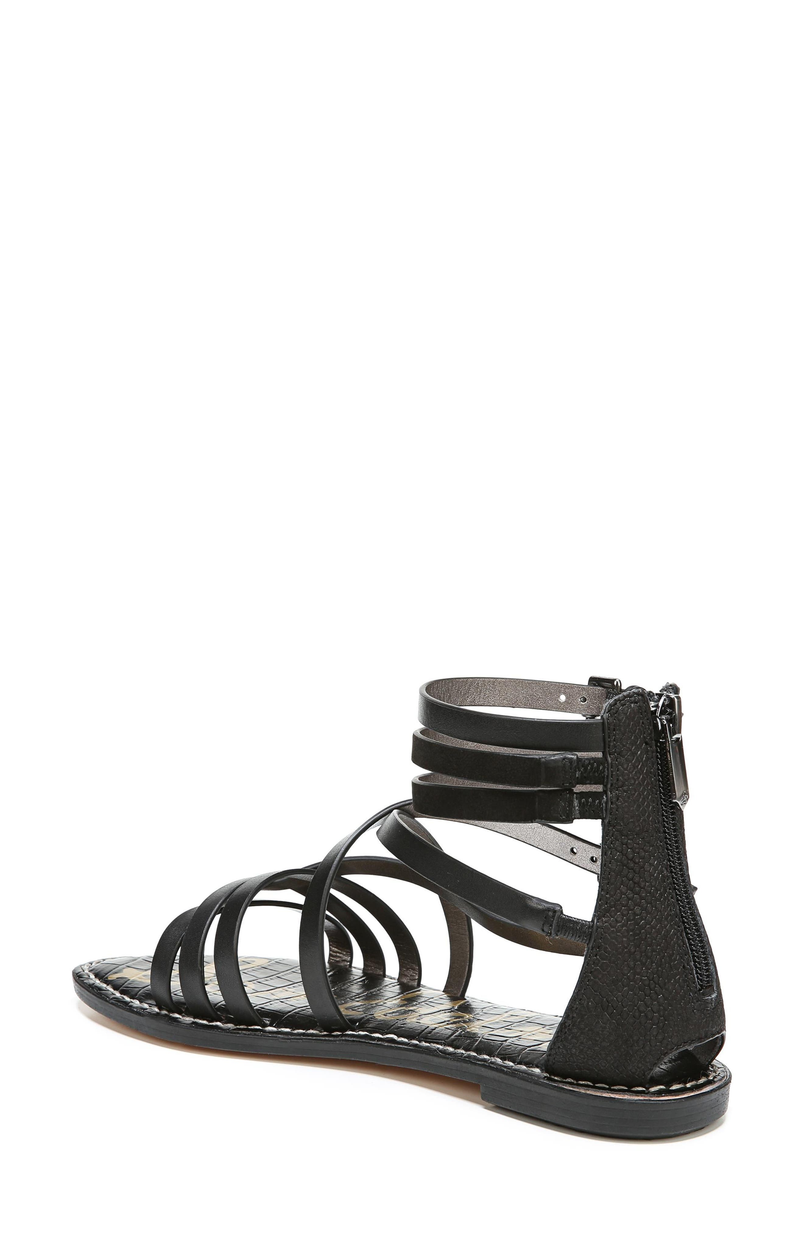 Ganesa Strappy Sandal,                             Alternate thumbnail 2, color,                             BLACK LEATHER