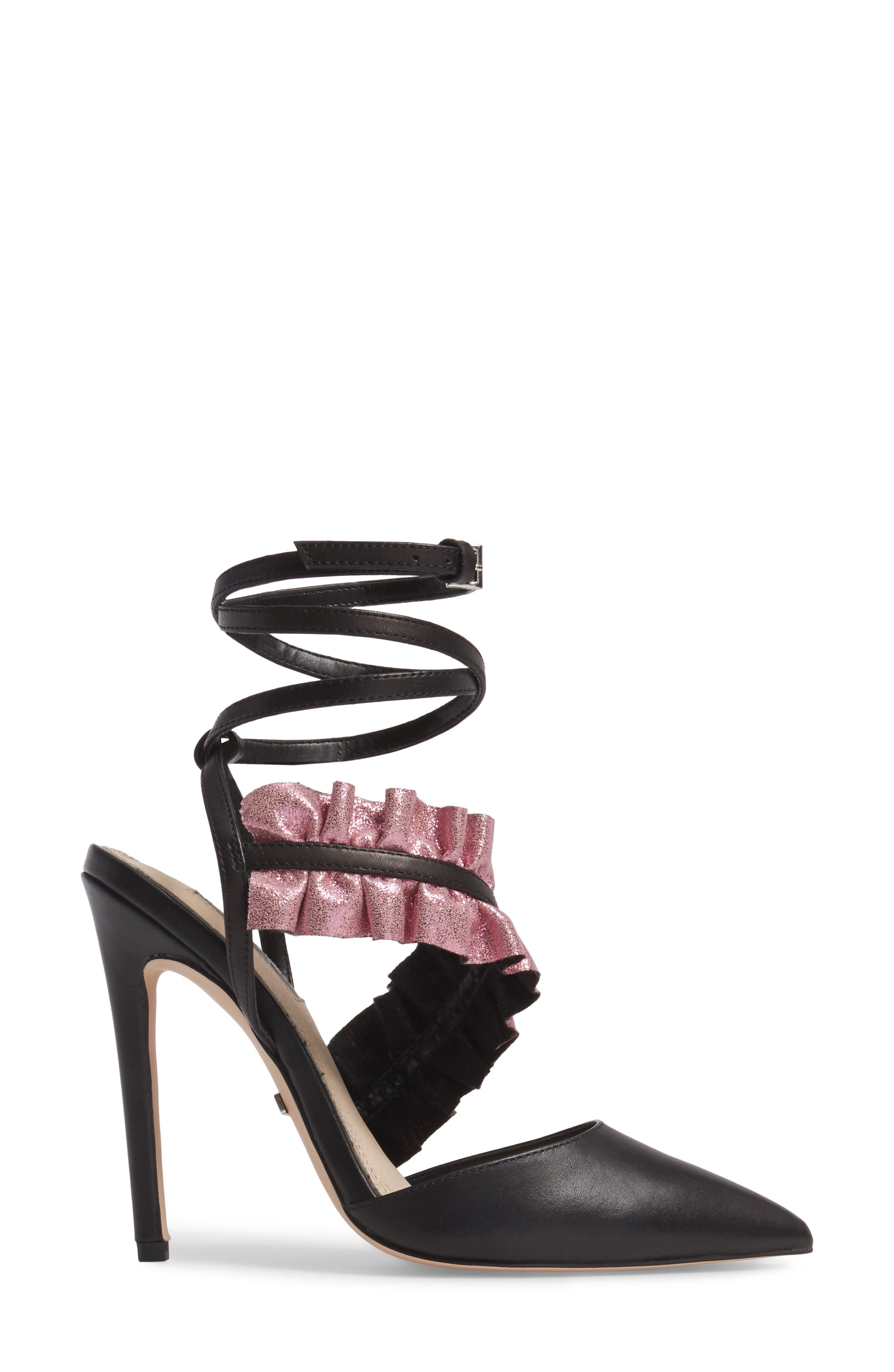 Grill Frill Ankle Strap Pump,                             Alternate thumbnail 3, color,                             001