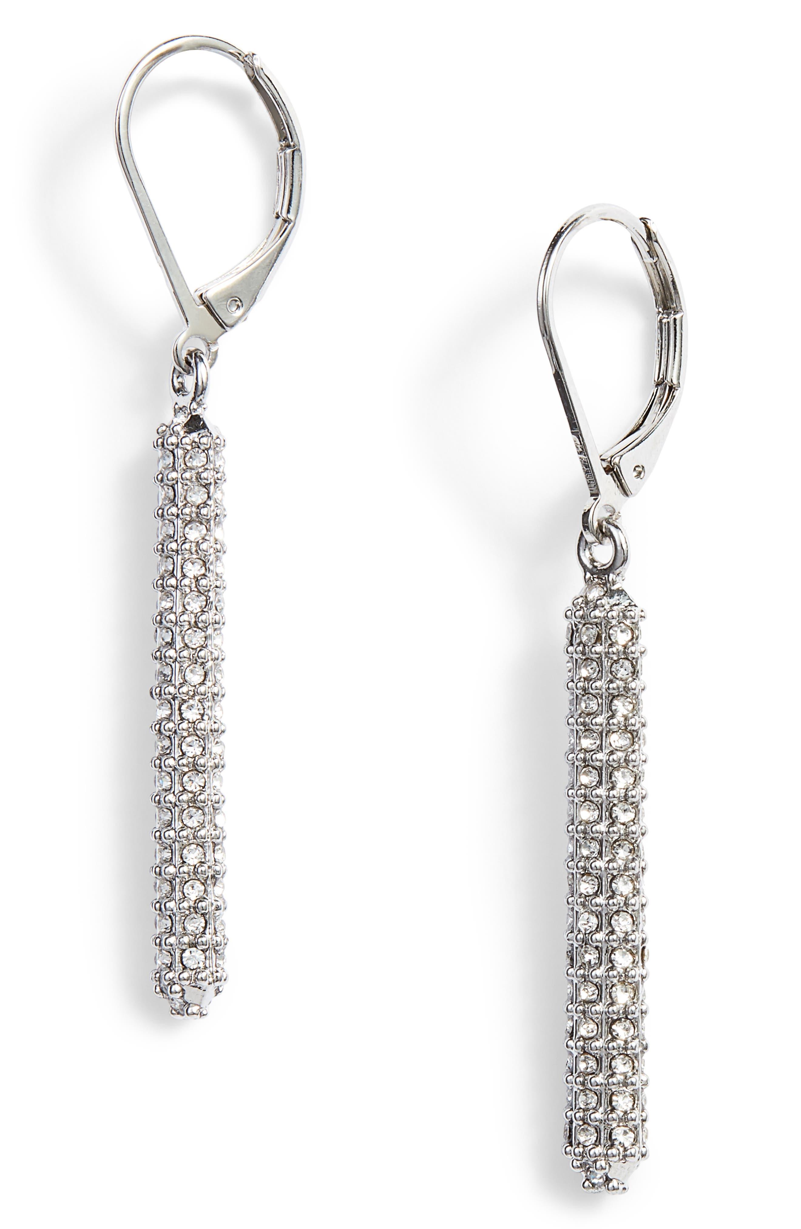 Pavé Bar Earrings,                         Main,                         color, 041