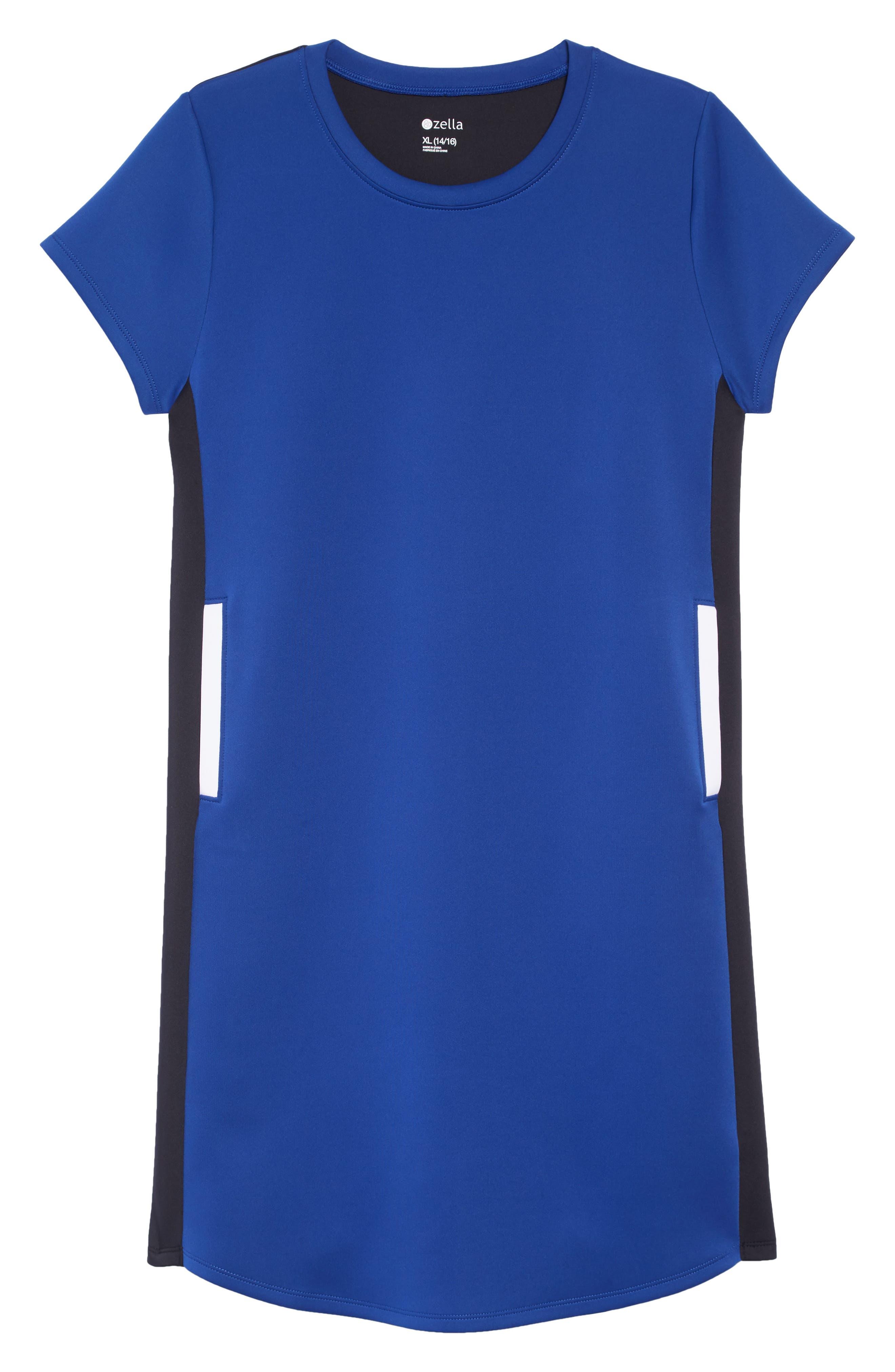 ZELLA GIRL Colorblock Dress, Main, color, 401