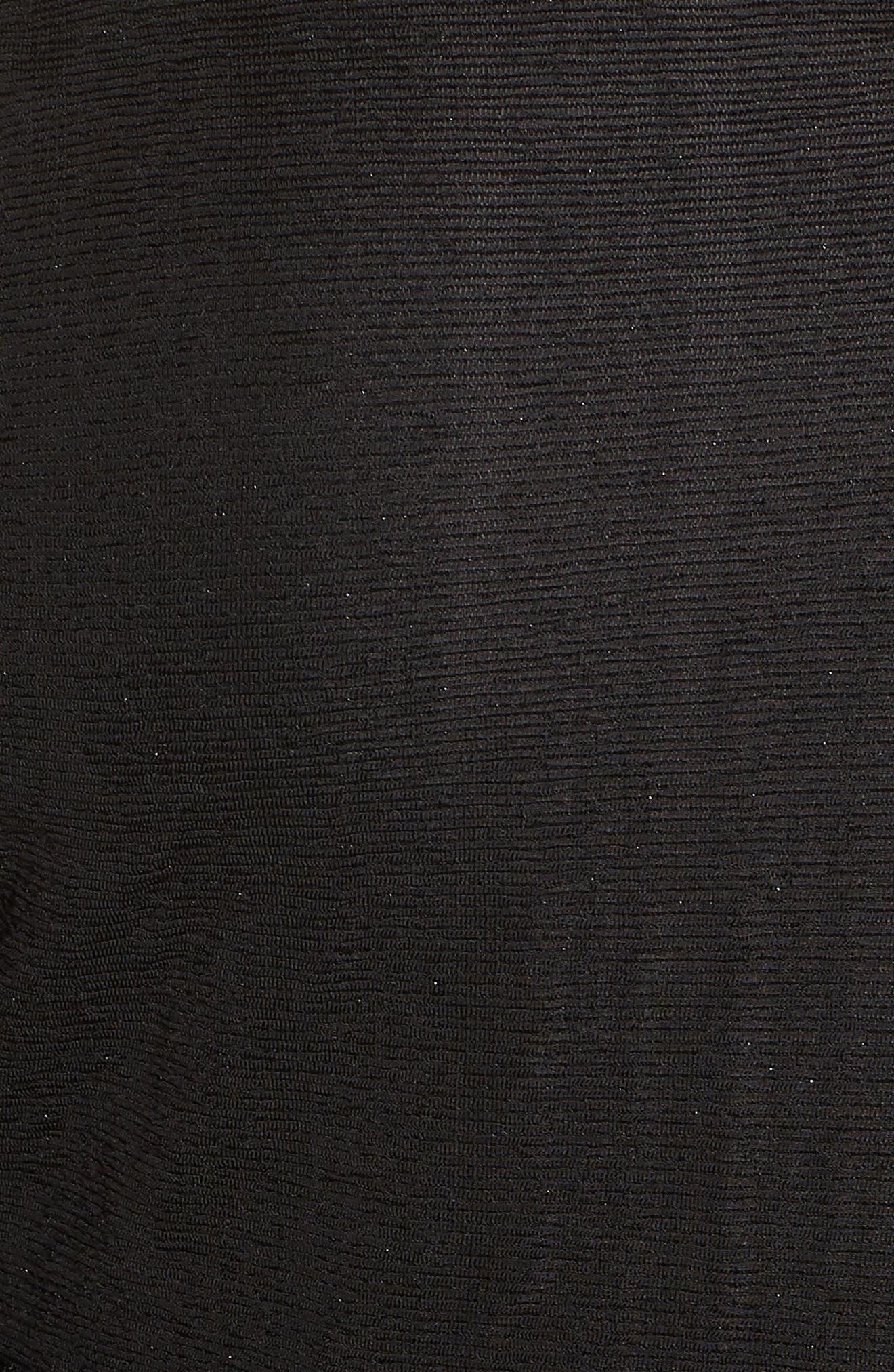 Cold Shoulder Top,                             Alternate thumbnail 5, color,                             BLACK